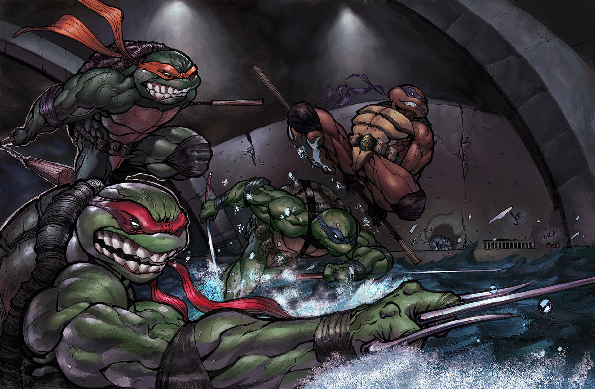 17592 download wallpaper Cartoon, Tmnt screensavers and pictures for free