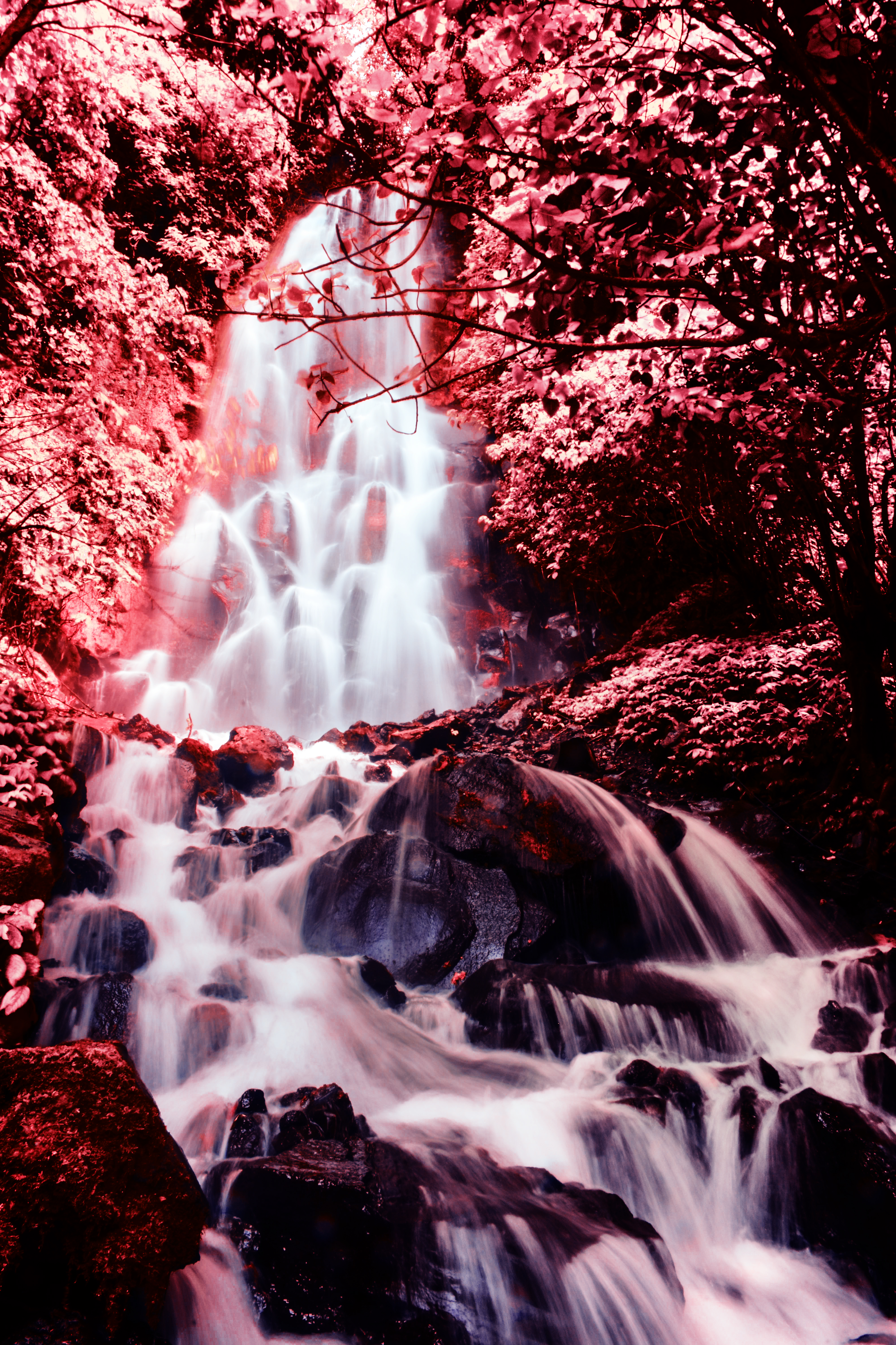 65414 Screensavers and Wallpapers Photoshop for phone. Download Nature, Stones, Waterfall, Flow, Photoshop pictures for free