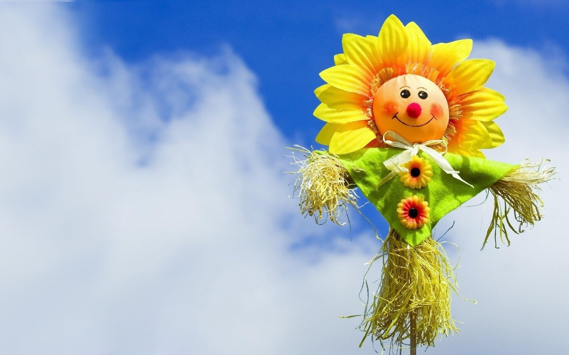 22480 download wallpaper Background, Sunflowers, Sky screensavers and pictures for free