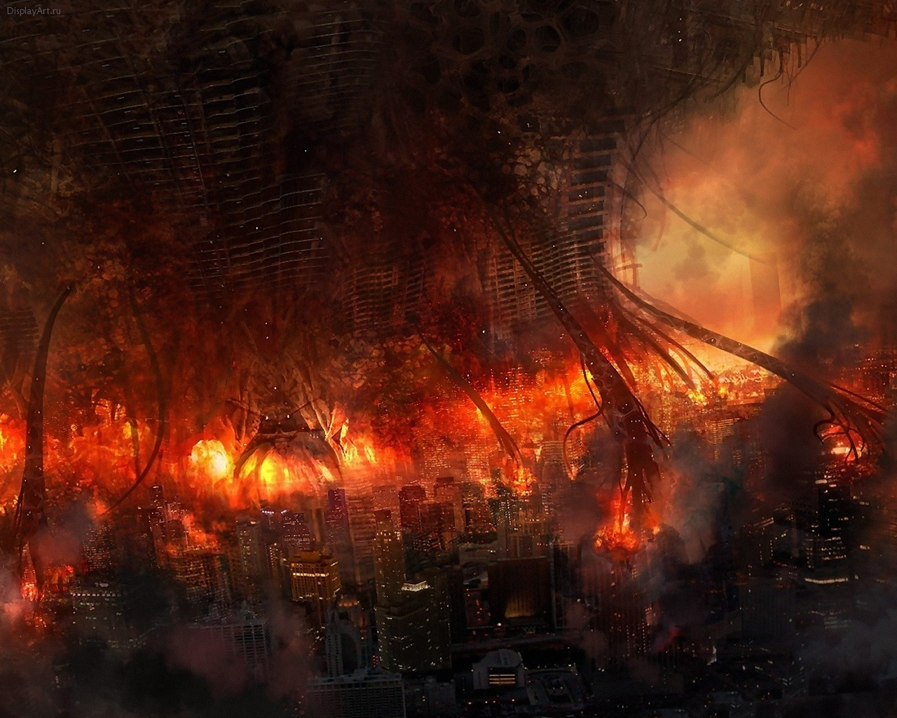 5876 免費下載壁紙 景观, 城市, 火, 死亡 屏保和圖片