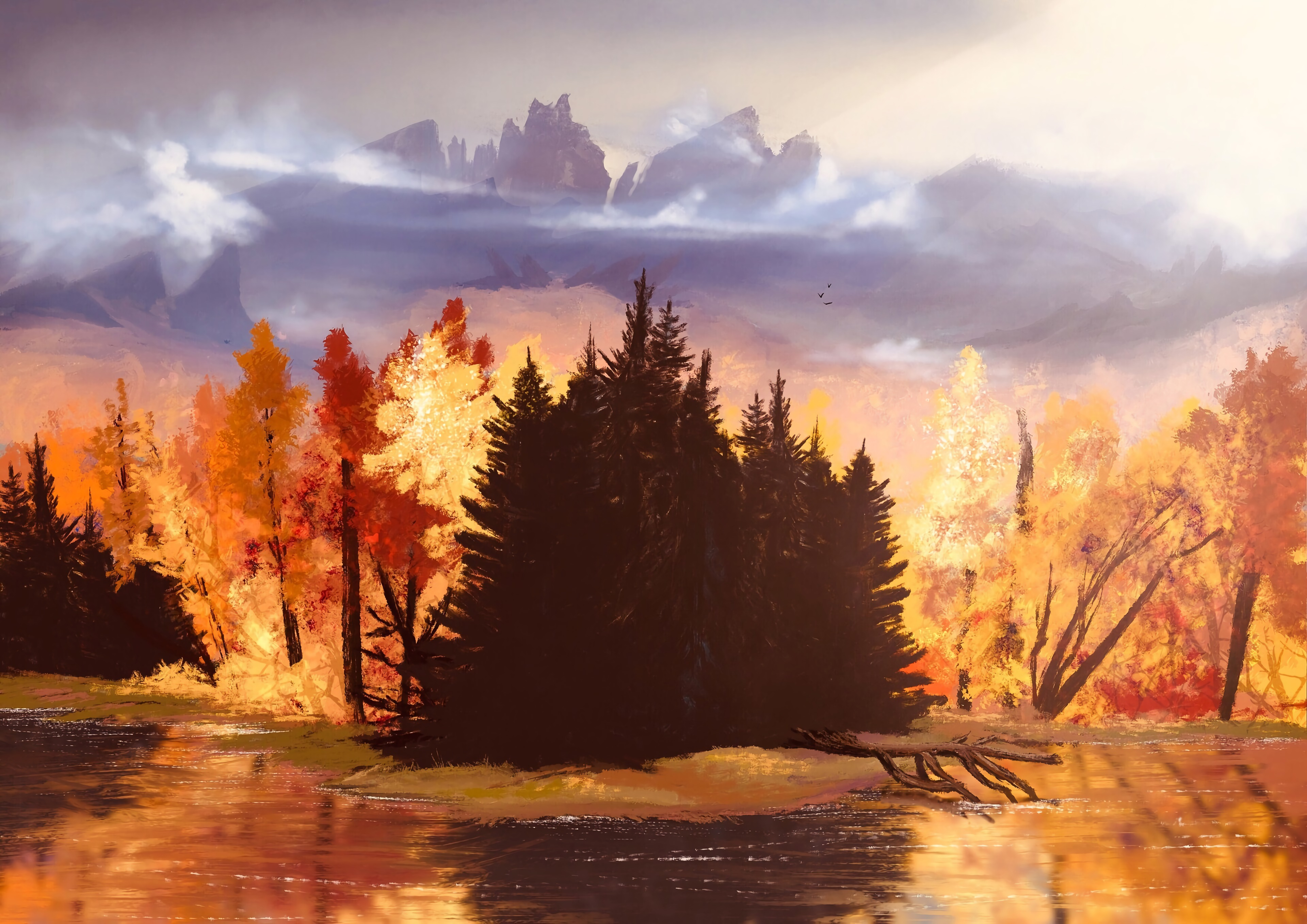 120692 free wallpaper 720x1520 for phone, download images Art, Autumn, Forest 720x1520 for mobile
