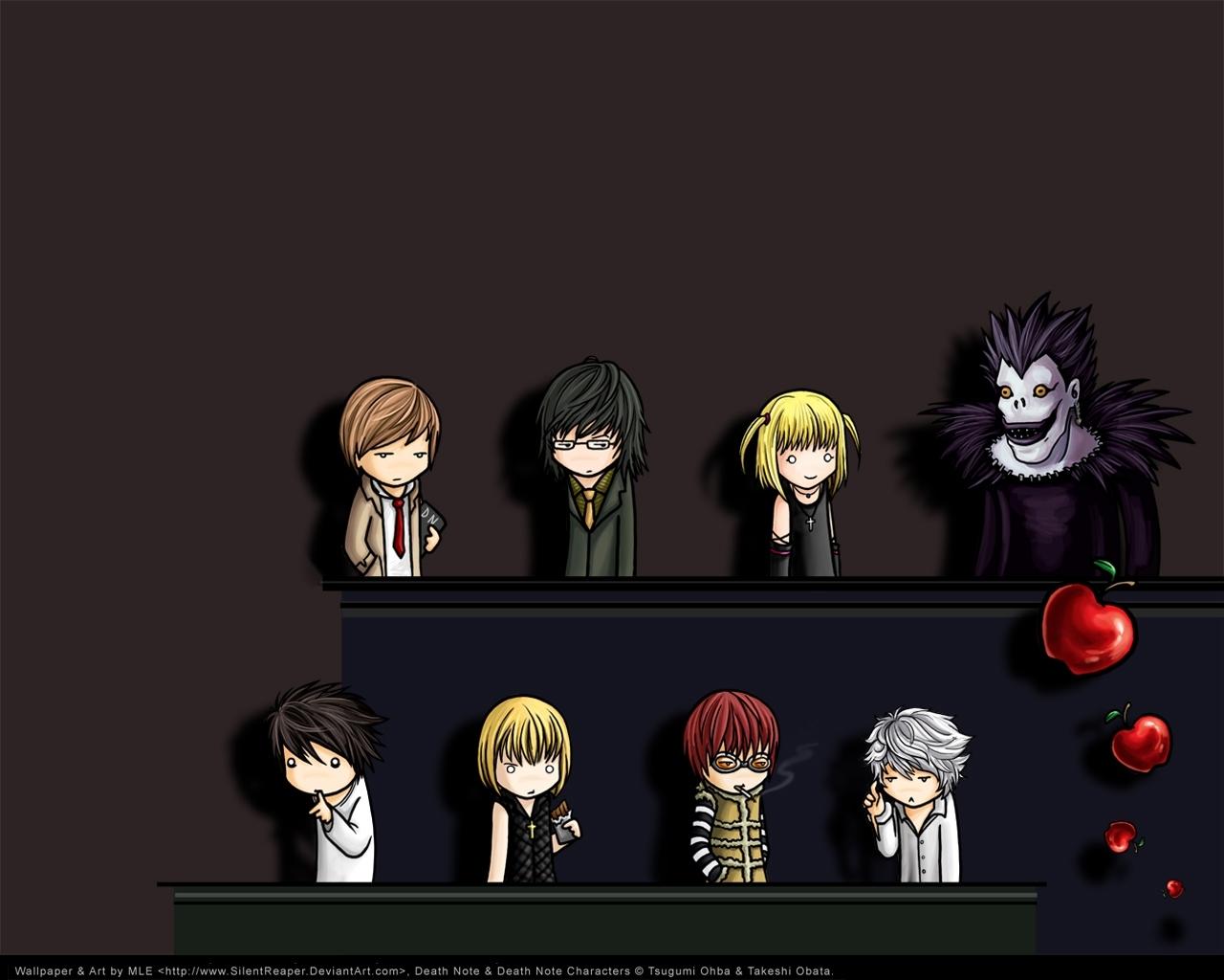 2892 скачать обои Мультфильмы, Аниме, Тетрадь Смерти (Death Note) - заставки и картинки бесплатно