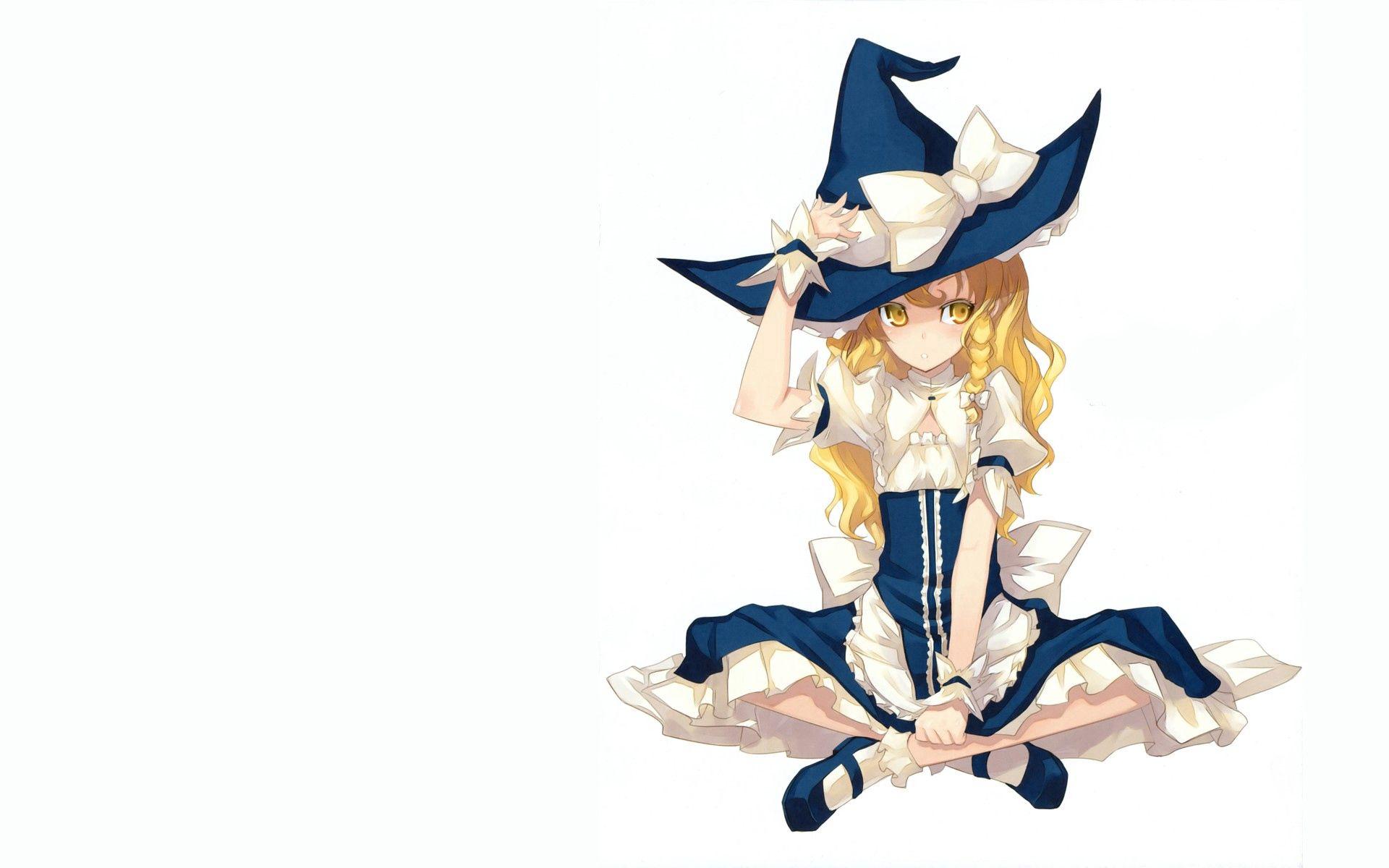 106054 скачать обои Аниме, Девушка, Блондинка, Волшебница, Голубой, Костюм - заставки и картинки бесплатно