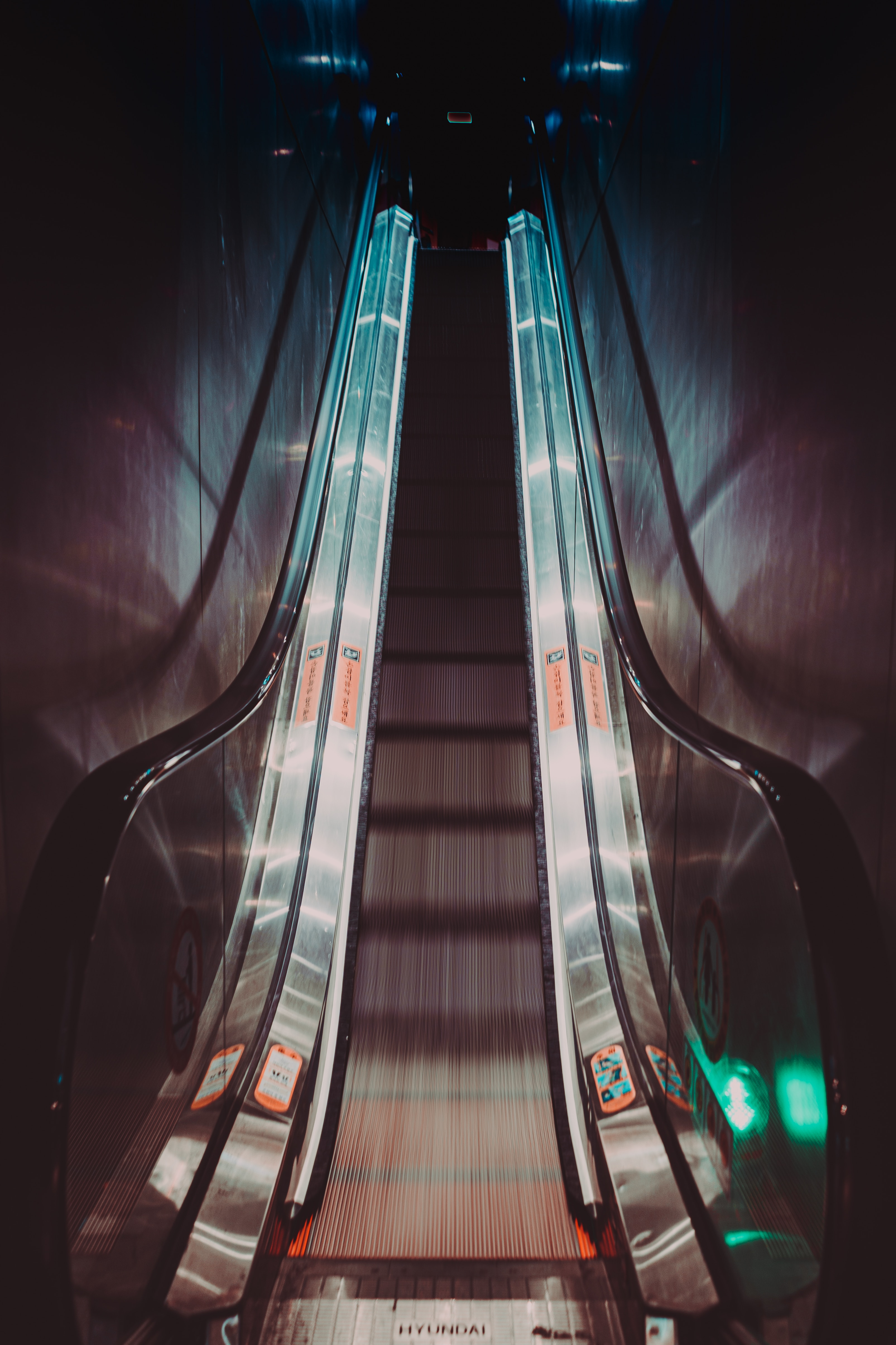 63853 Screensavers and Wallpapers Metro for phone. Download Shine, Light, Miscellanea, Miscellaneous, Backlight, Illumination, Tunnel, Metro, Subway, Escalator pictures for free