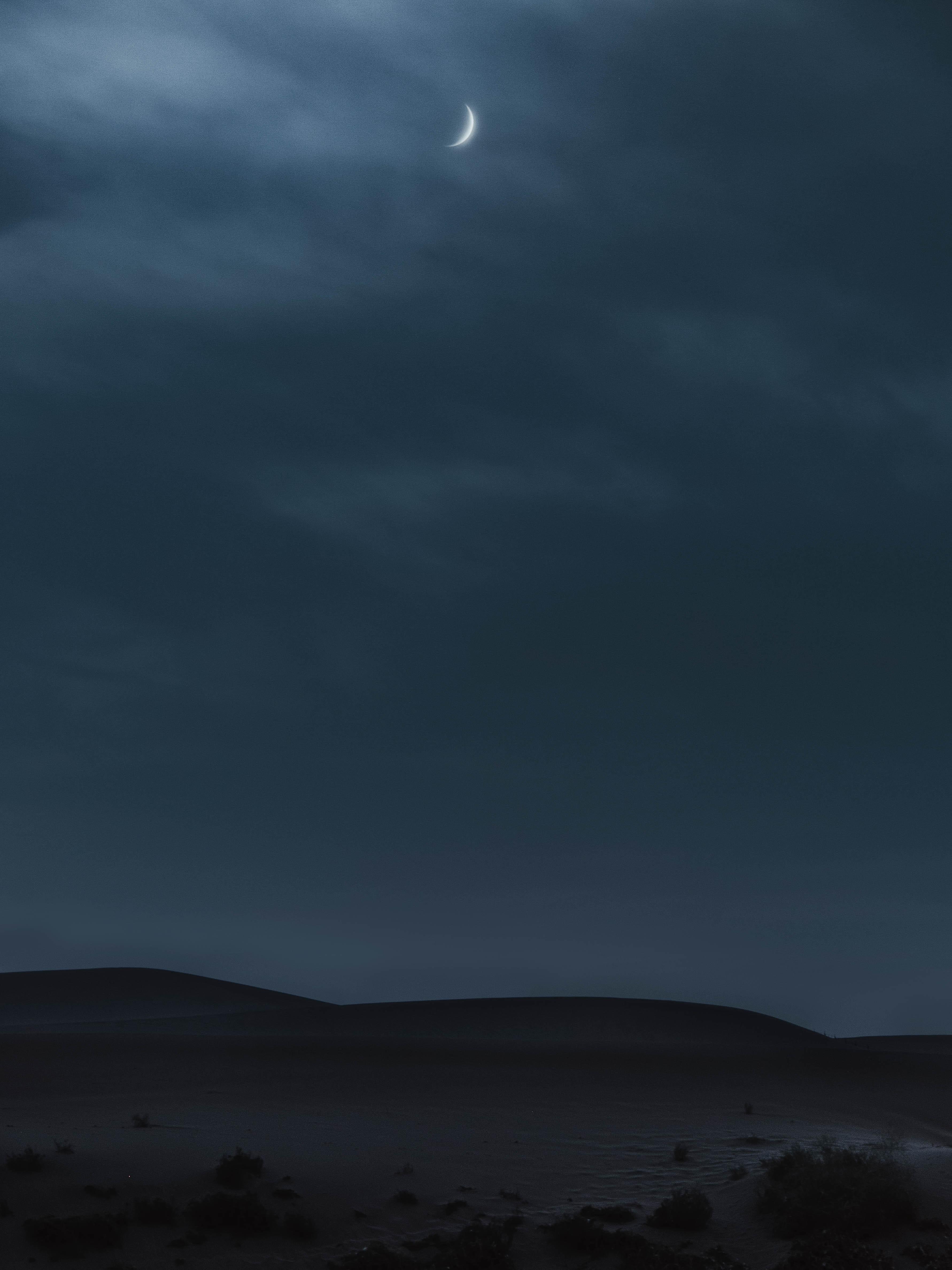 101985 免費下載壁紙 性质, 山丘, 丘陵, 月球, 黄昏, 夜, 沙漠 屏保和圖片