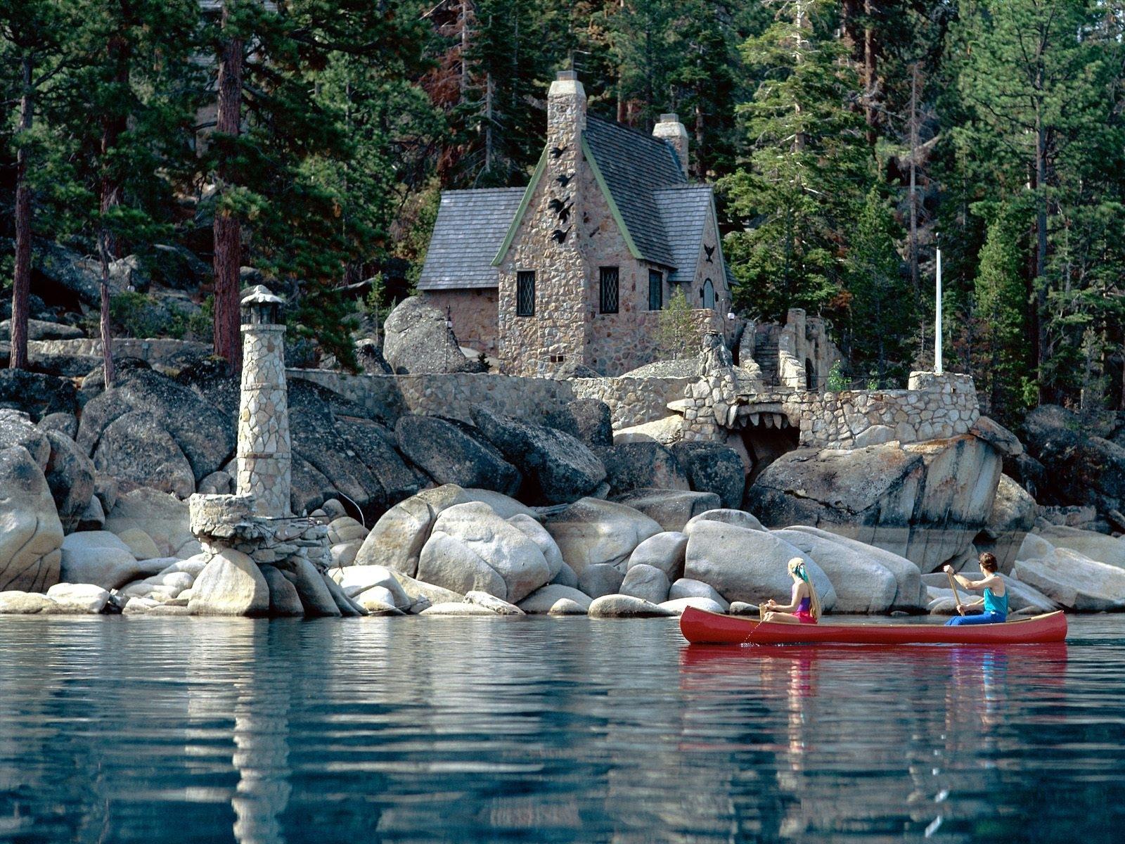 13165 скачать обои Пейзаж, Дома, Озера - заставки и картинки бесплатно