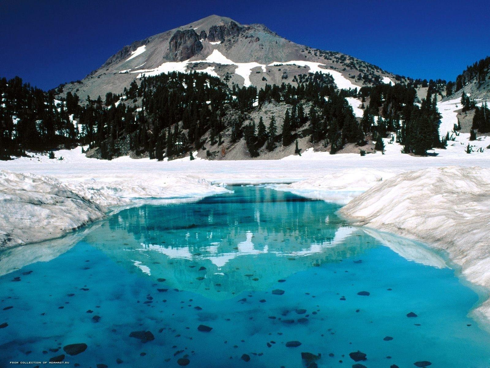2466 скачать обои Пейзаж, Зима, Вода, Река, Горы, Снег - заставки и картинки бесплатно