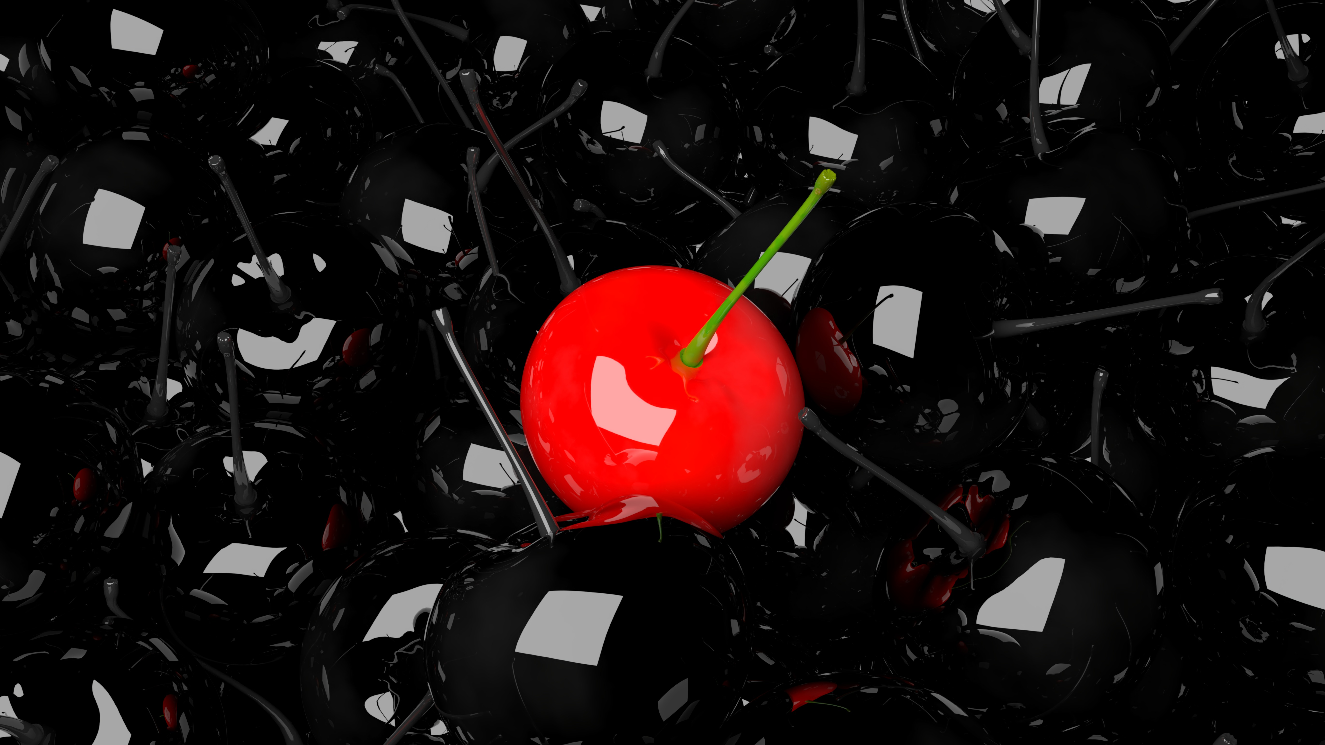 134480 Заставки и Обои Вишня на телефон. Скачать 3D, Вишня, Ягода, Красный, Черный картинки бесплатно