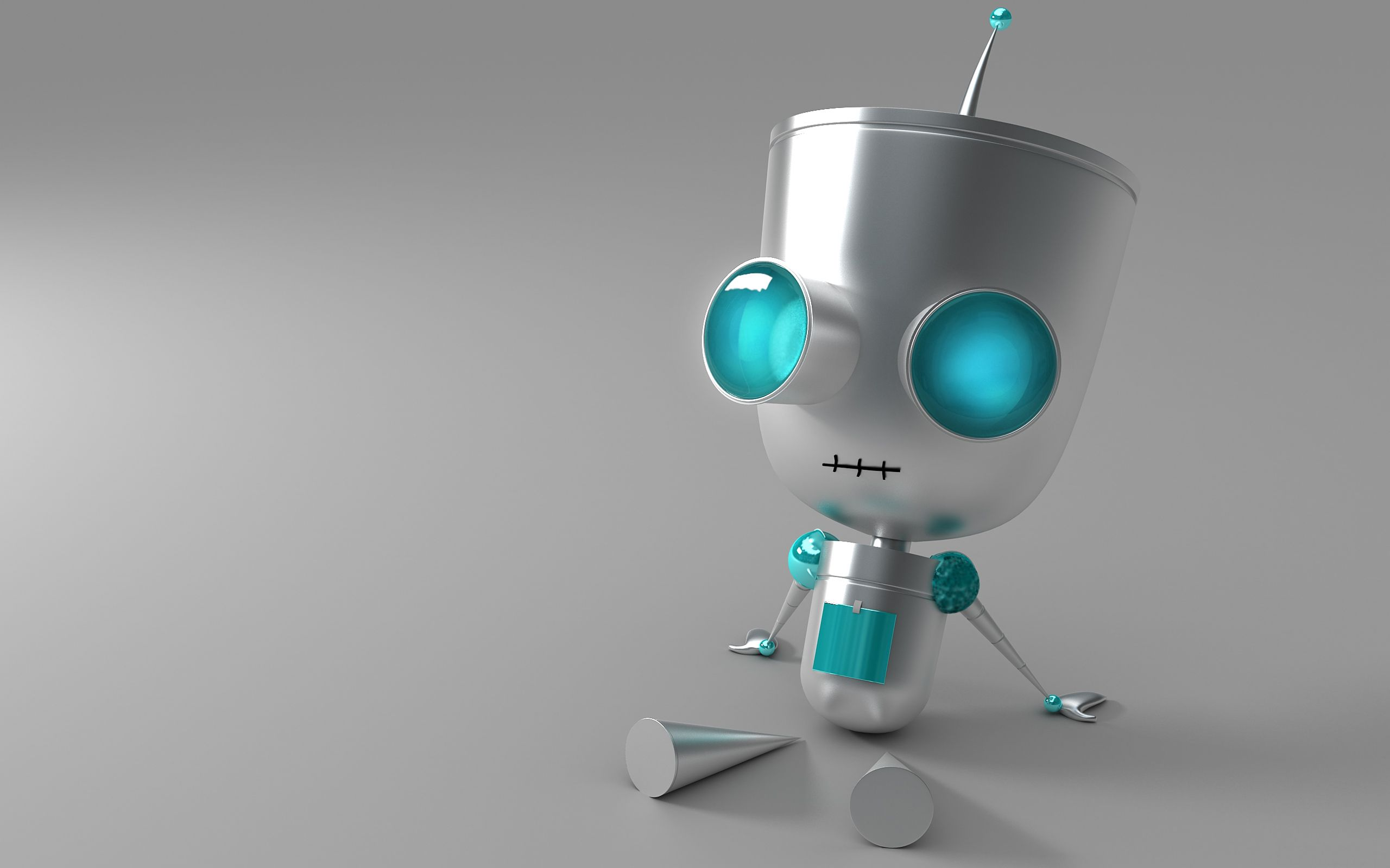 120574 download wallpaper 3D, Robot, Eyes, Metal screensavers and pictures for free