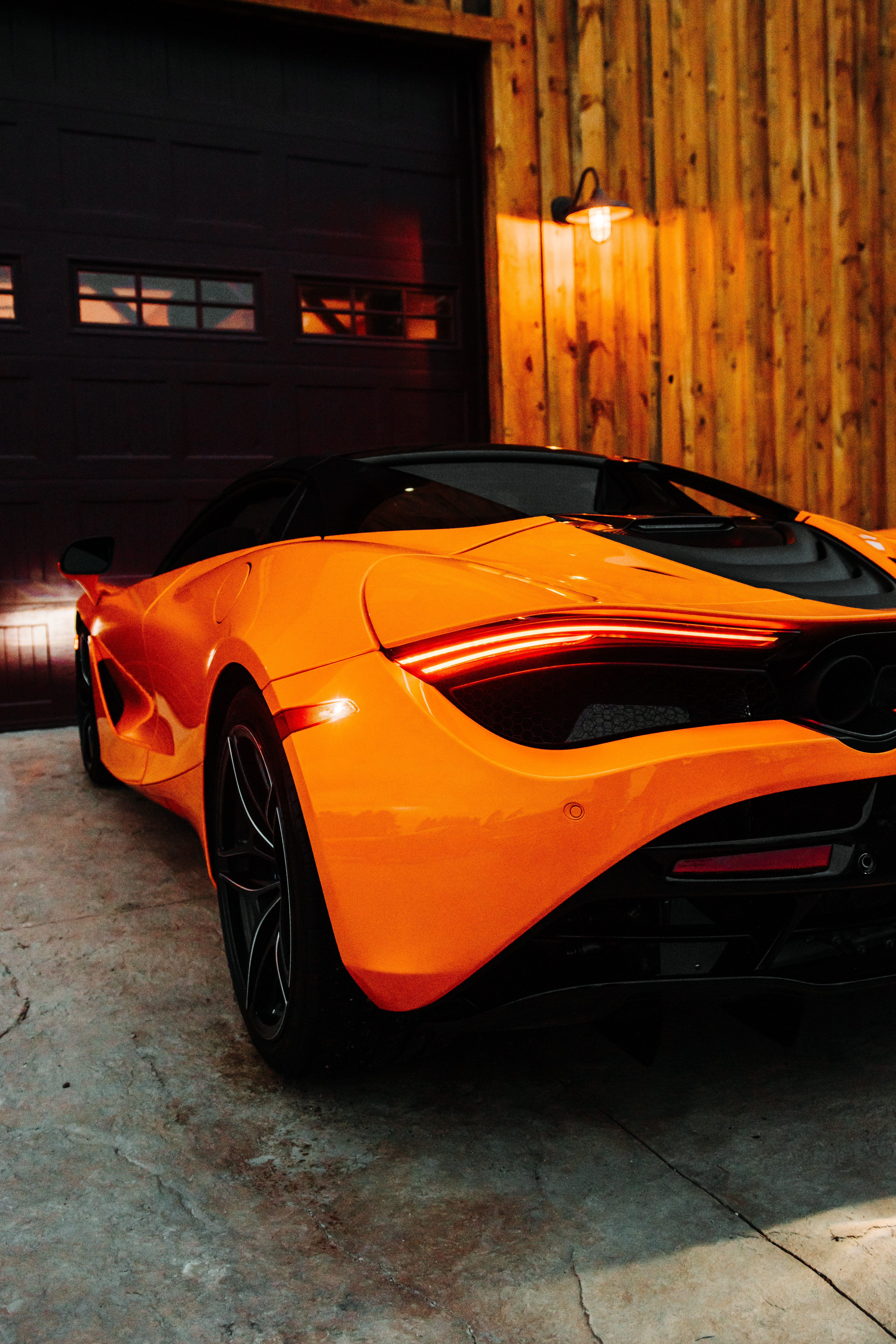 106156 download wallpaper Cars, Mclaren, Car, Supercar, Lamp, Lantern, Back View, Rear View screensavers and pictures for free