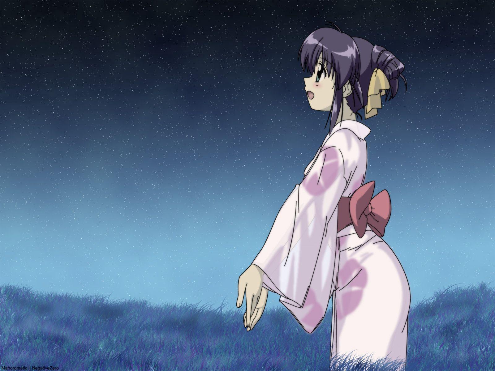 75786壁紙のダウンロード日本製アニメ, 女の子, 着物, ベルト, 帯-スクリーンセーバーと写真を無料で