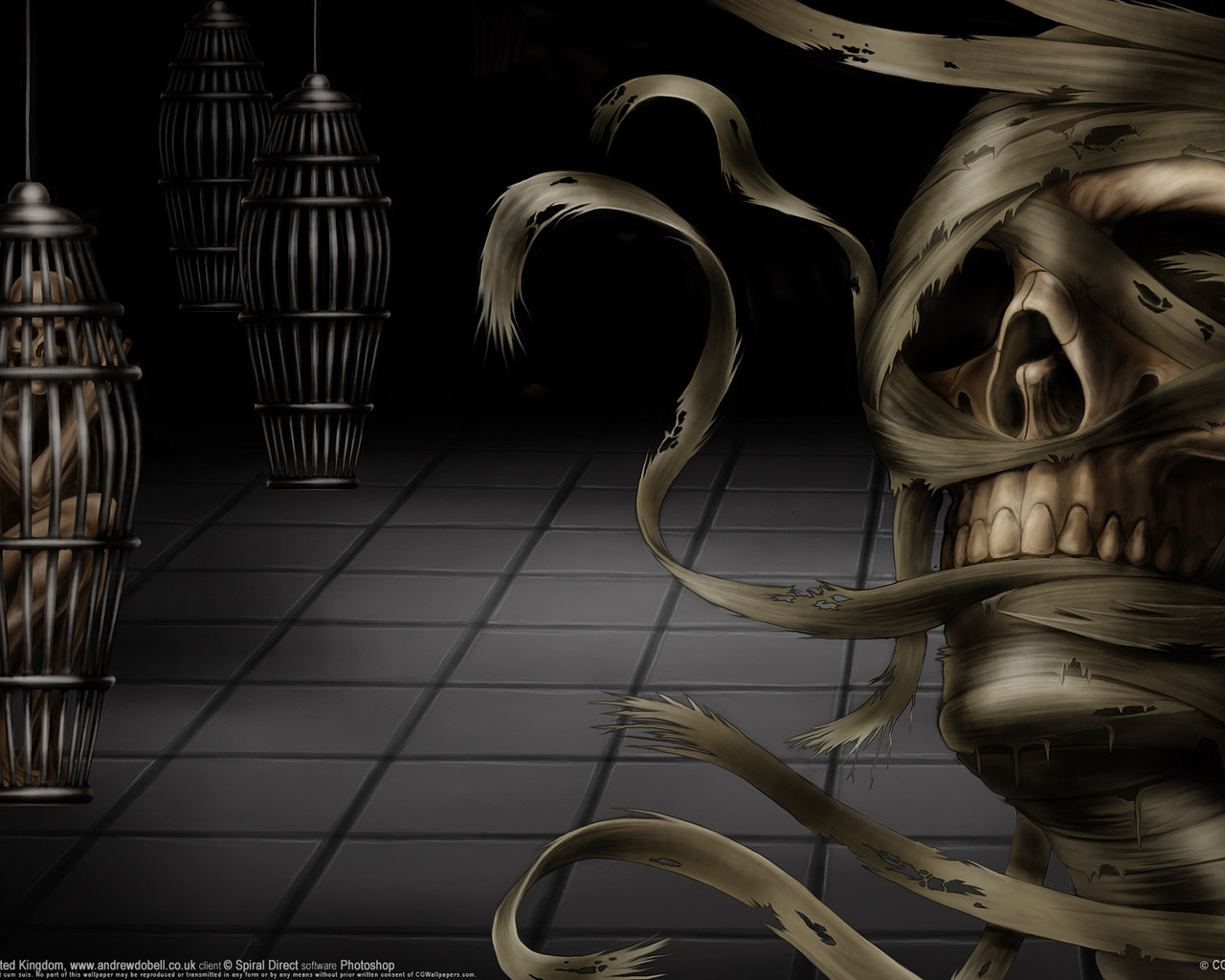 22204 download wallpaper Fantasy, Death, Skeletons screensavers and pictures for free