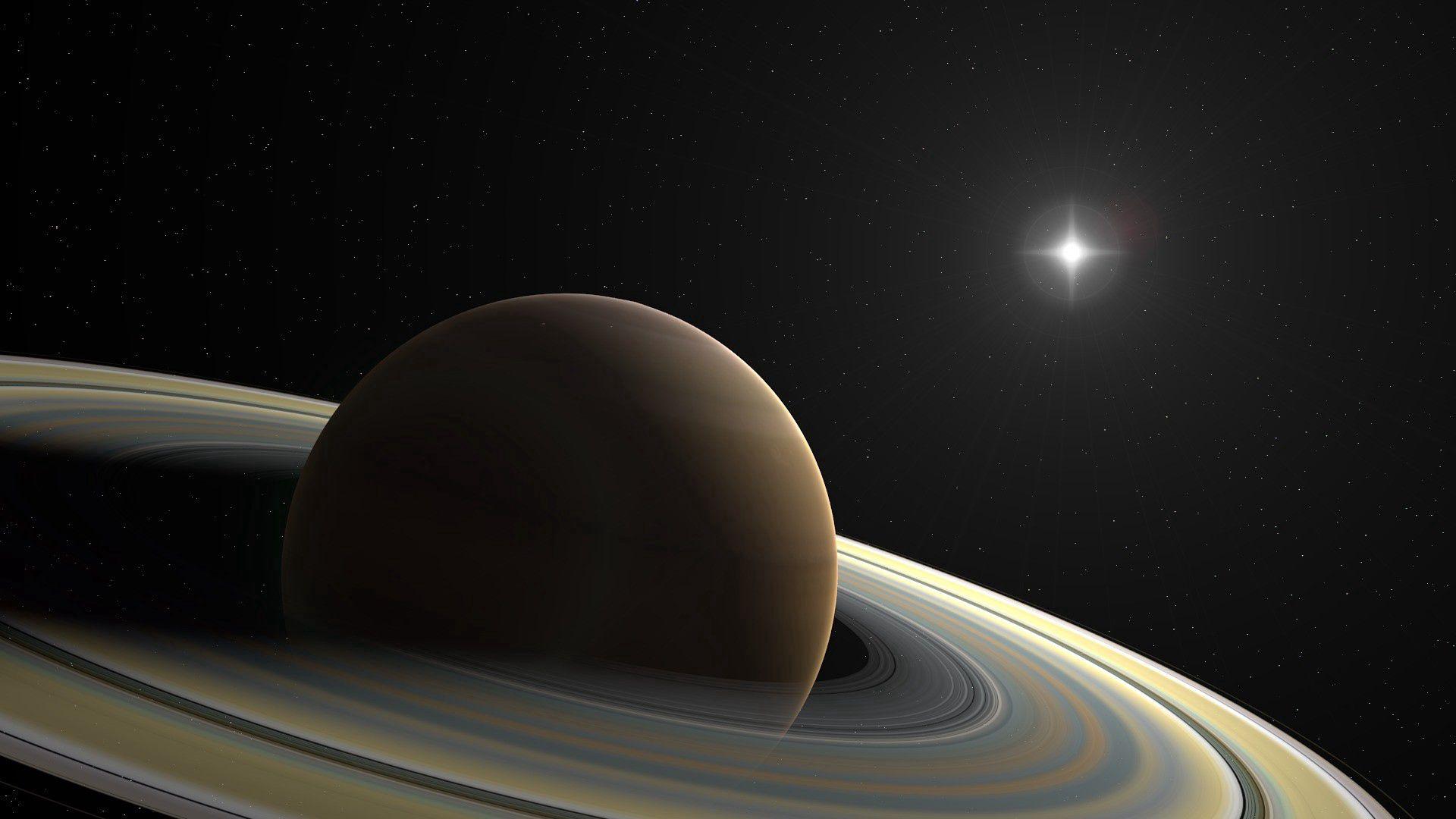 124472壁紙のダウンロード土星, 惑星, リング, 指輪, スター, 宇宙-スクリーンセーバーと写真を無料で