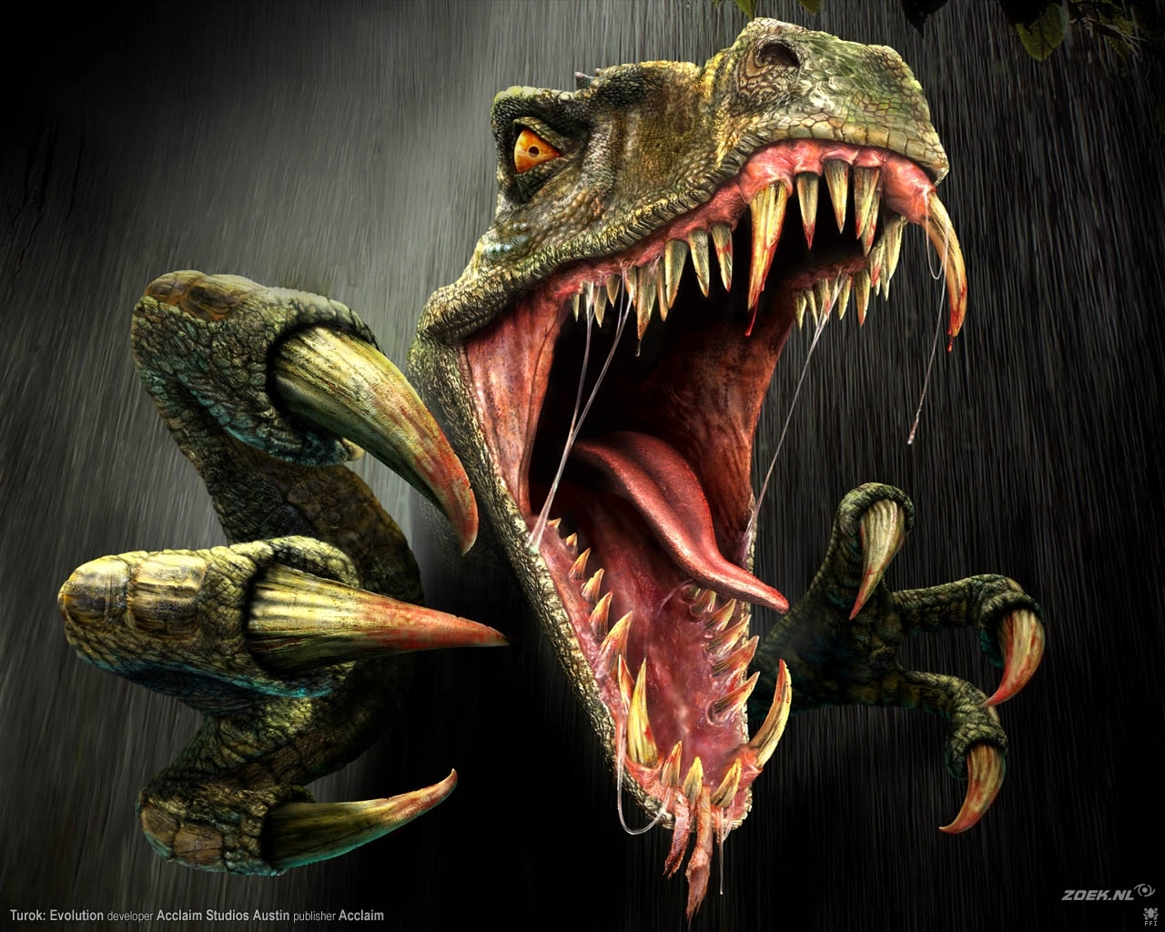 4709 download wallpaper Animals, Art, Dinosaurs, Turok screensavers and pictures for free