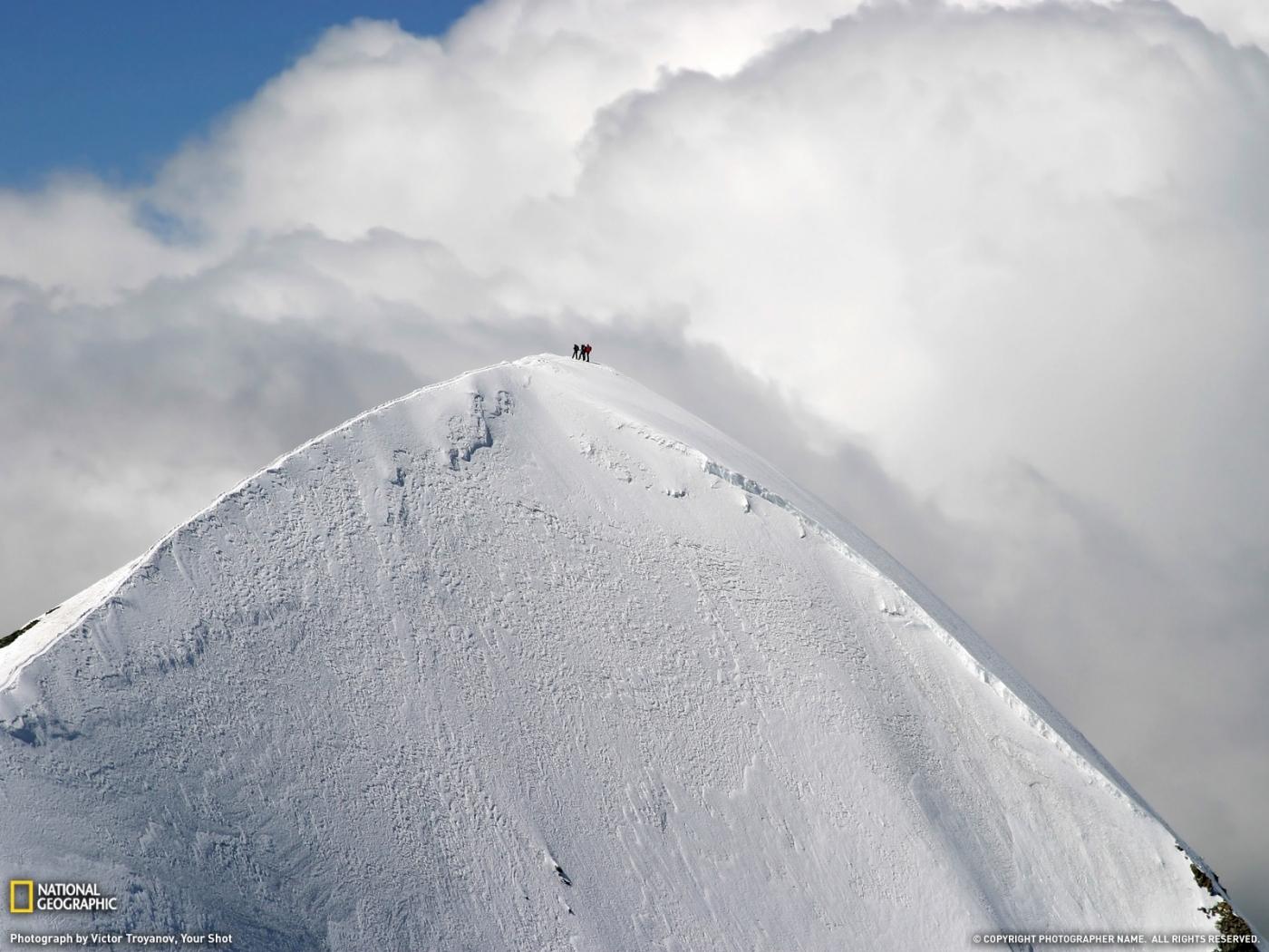 28743 скачать обои Пейзаж, Горы, Облака, Снег - заставки и картинки бесплатно