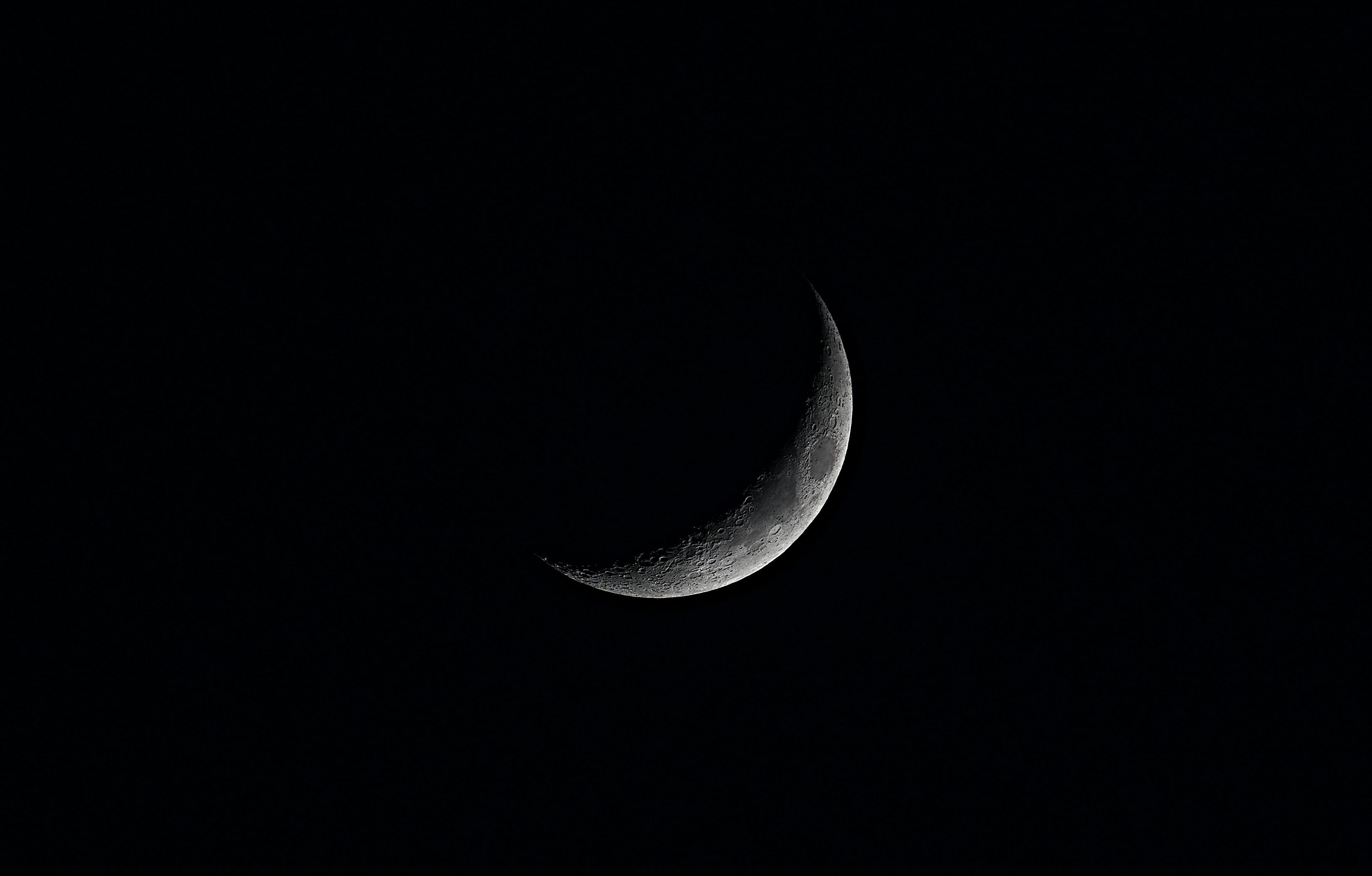 81933 скачать Черные обои на телефон бесплатно, Небо, Ночь, Луна, Черный, Тень Черные картинки и заставки на мобильный