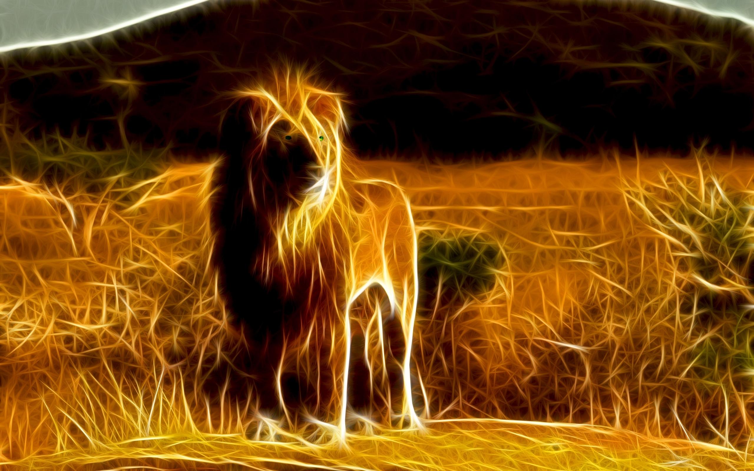45536 скачать обои Животные, Львы, Рисунки - заставки и картинки бесплатно
