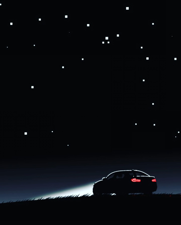 70353 Заставки и Обои Фары на телефон. Скачать Темные, Автомобиль, Ночь, Небо, Арт, Силуэт, Фары картинки бесплатно