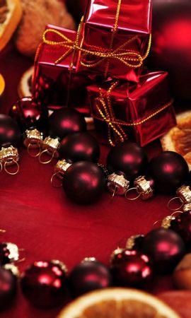 112975 завантажити шпалери Свята, Свято, Різдво, Свічки, Подарунки, Кулі - заставки і картинки безкоштовно