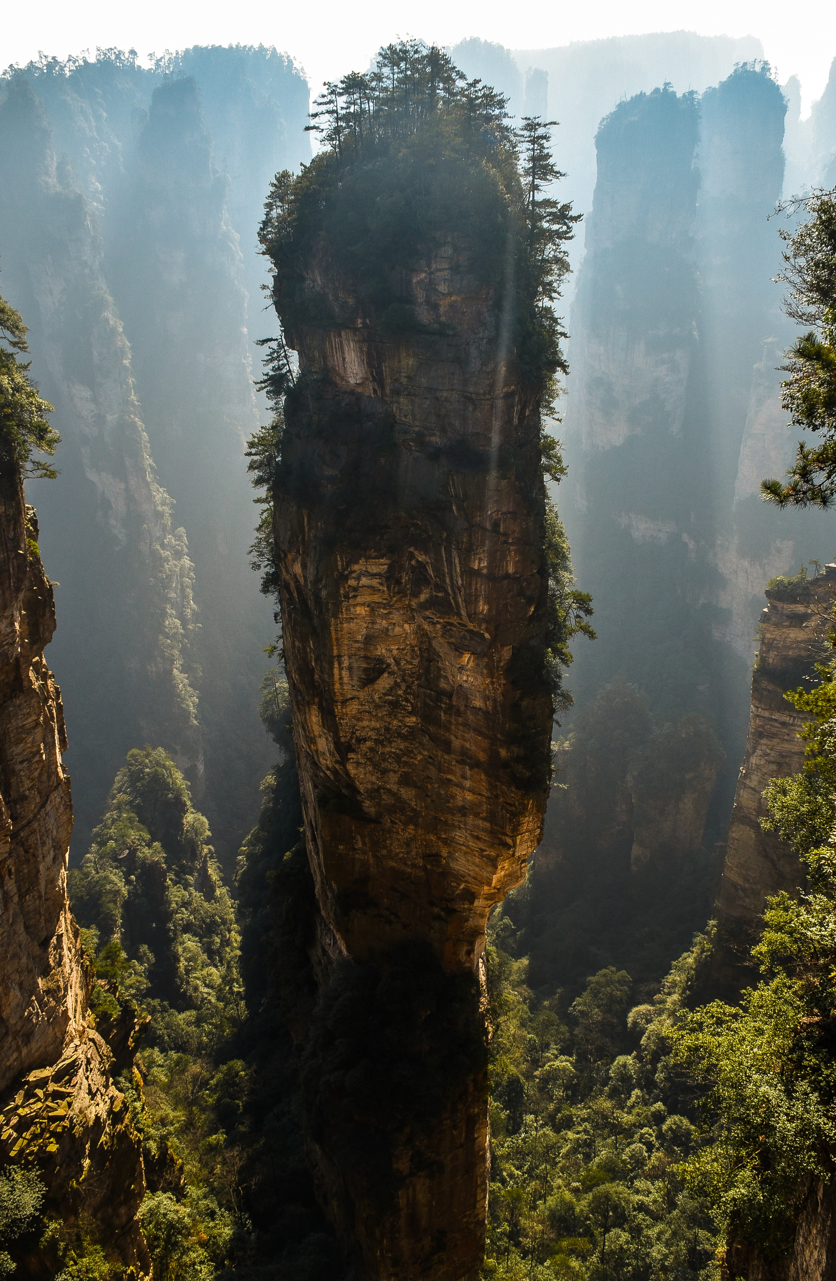 77801 download wallpaper Nature, Rock, Mountain, Fog, China, Mount Avatar, Mountain Avatar, Zhangjiajie, Changjiajie screensavers and pictures for free