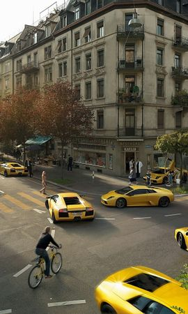 4178 descargar fondo de pantalla Transporte, Paisaje, Ciudades, Automóvil, Calles, Lamborghini: protectores de pantalla e imágenes gratis