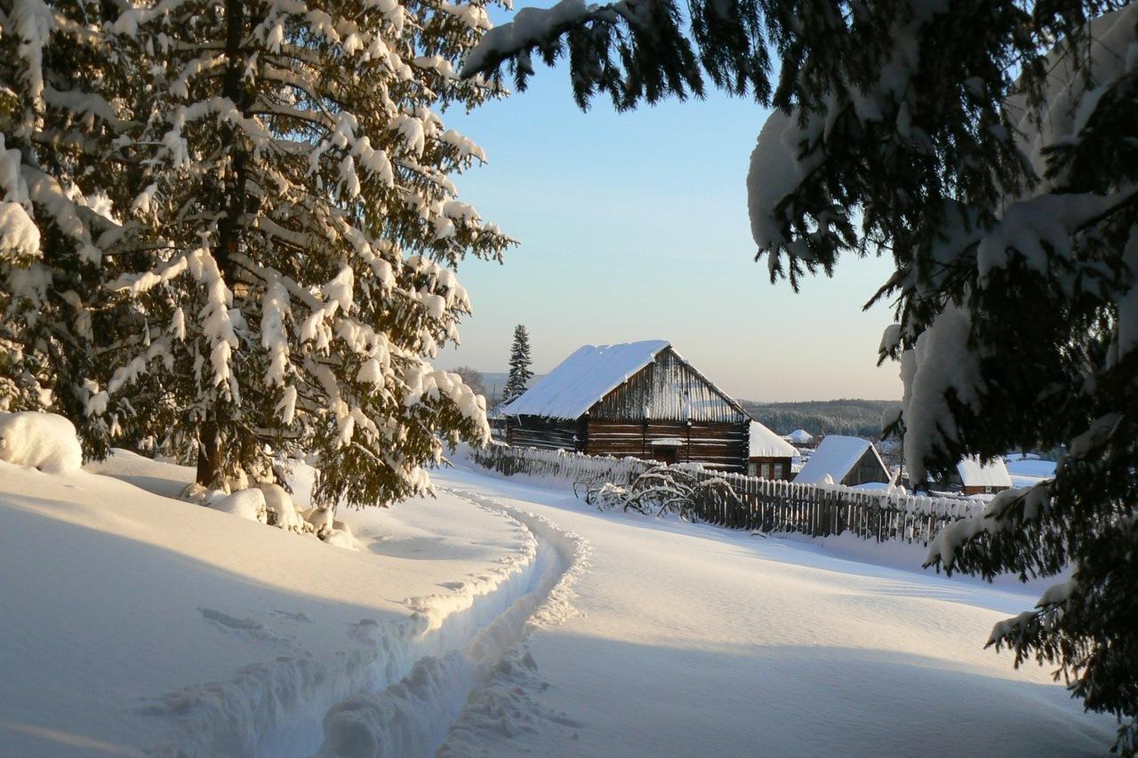 13526 descargar fondo de pantalla Paisaje, Invierno, Casas, Árboles, Nieve: protectores de pantalla e imágenes gratis