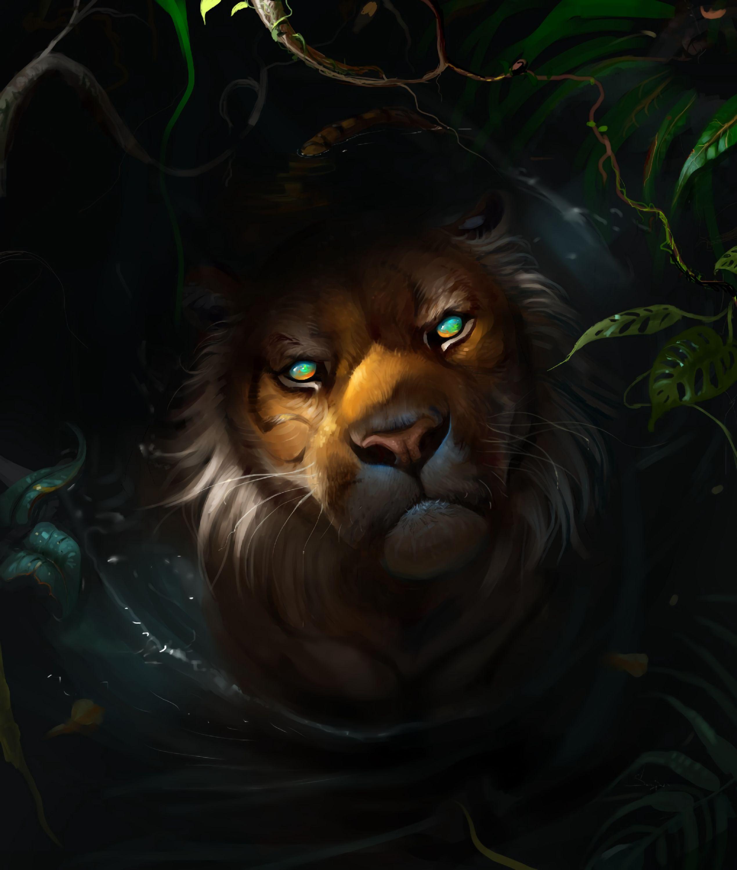 74423 Protetores de tela e papéis de parede Opinião em seu telefone. Baixe Predator, Arte, Leão, Escuro, Focinho, Um Leão, Predador, Visão, Opinião fotos gratuitamente
