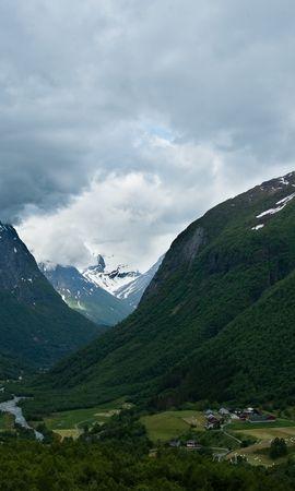 18370 скачать обои Пейзаж, Горы, Облака - заставки и картинки бесплатно