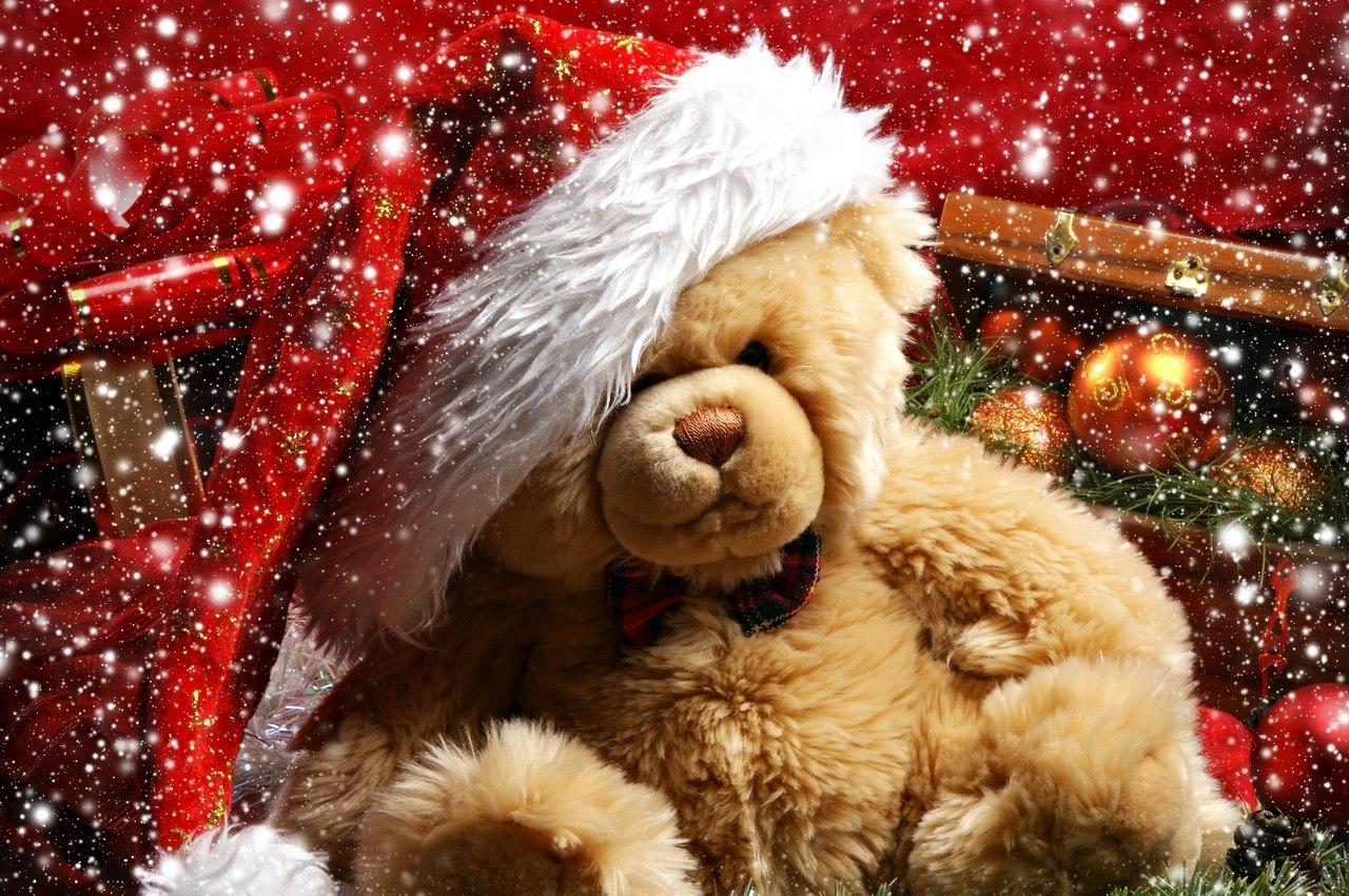 22091 скачать обои Праздники, Новый Год (New Year), Игрушки, Рождество (Christmas, Xmas), Мишка Тедди - заставки и картинки бесплатно