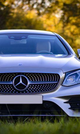 67300 télécharger le fond d'écran Voitures, Mercedes-Benz, Mercedes, Argent, Argenté, Vue De Face, Voiture, Moderne, Actuel - économiseurs d'écran et images gratuitement