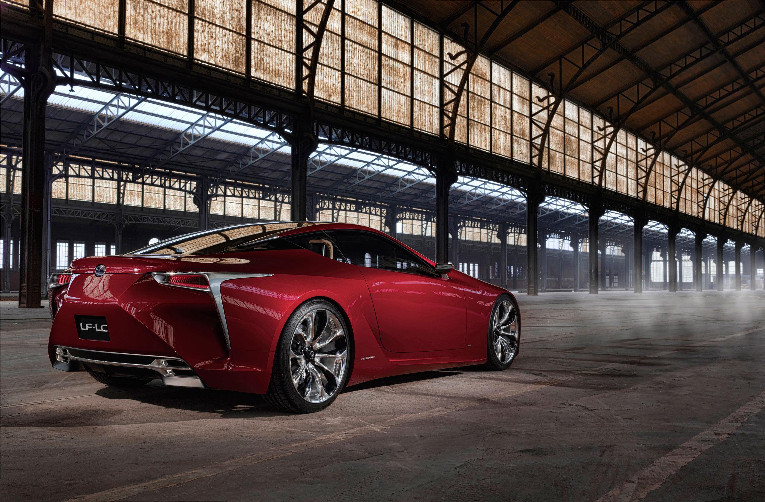 68115 Hintergrundbild herunterladen Lexus, Cars, Konzept, Rückansicht, Lf-Lc - Bildschirmschoner und Bilder kostenlos