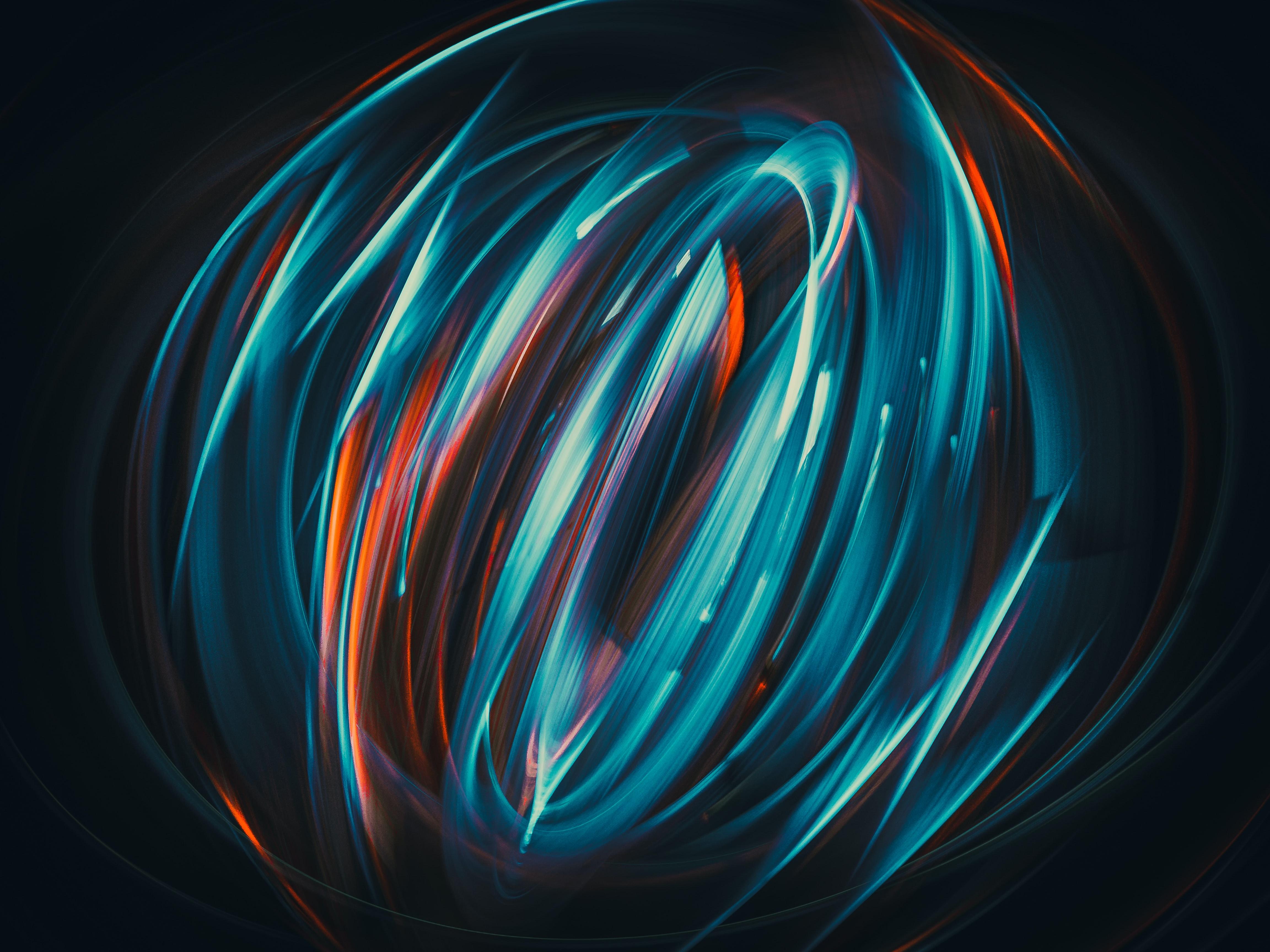 免費壁紙123694:抽象, 螺旋仪, 长期接触, 长曝光, 辉光, 发光 下載手機圖片
