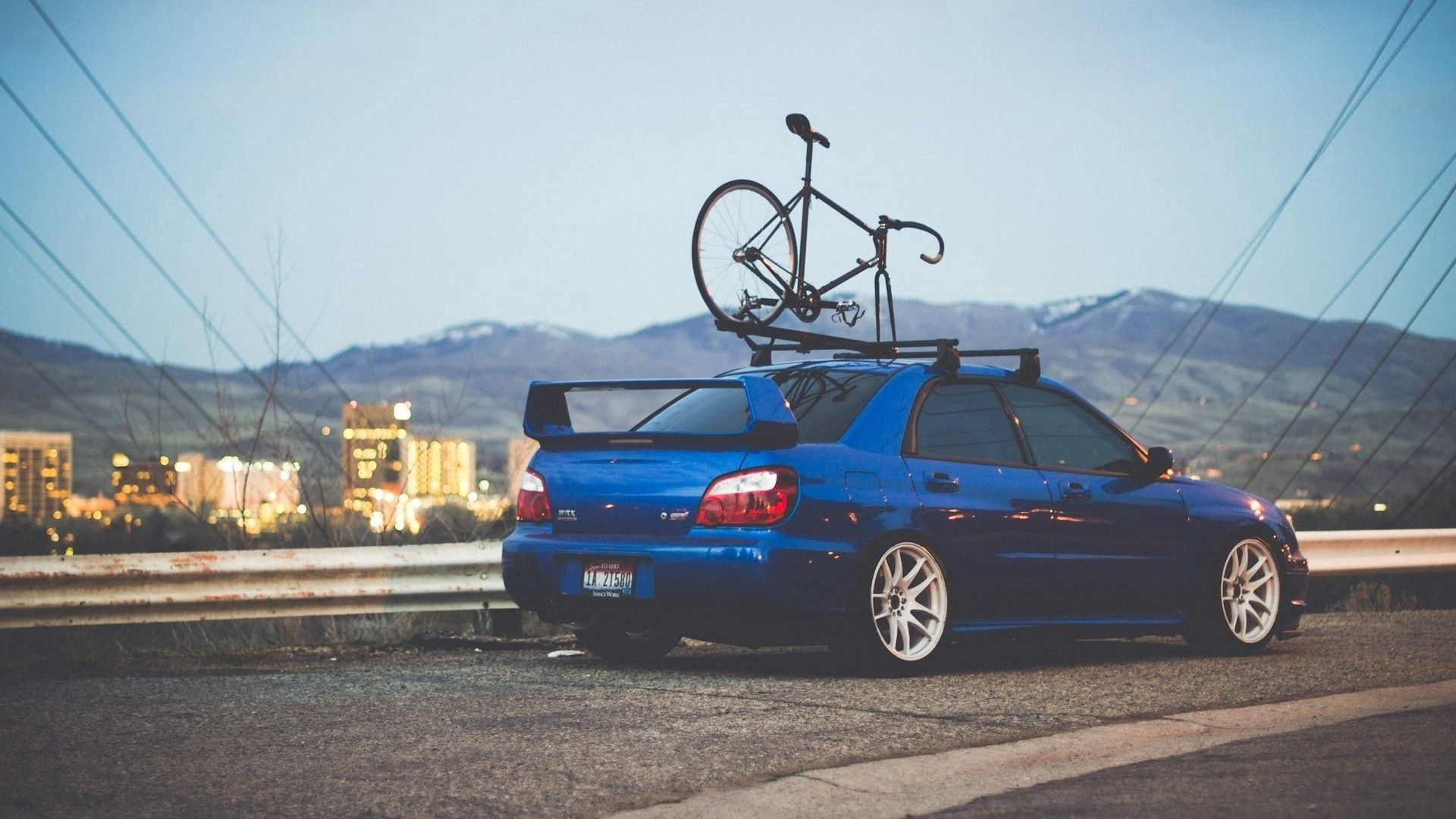 66835 download wallpaper Cars, Subaru, Auto, Bicycle screensavers and pictures for free