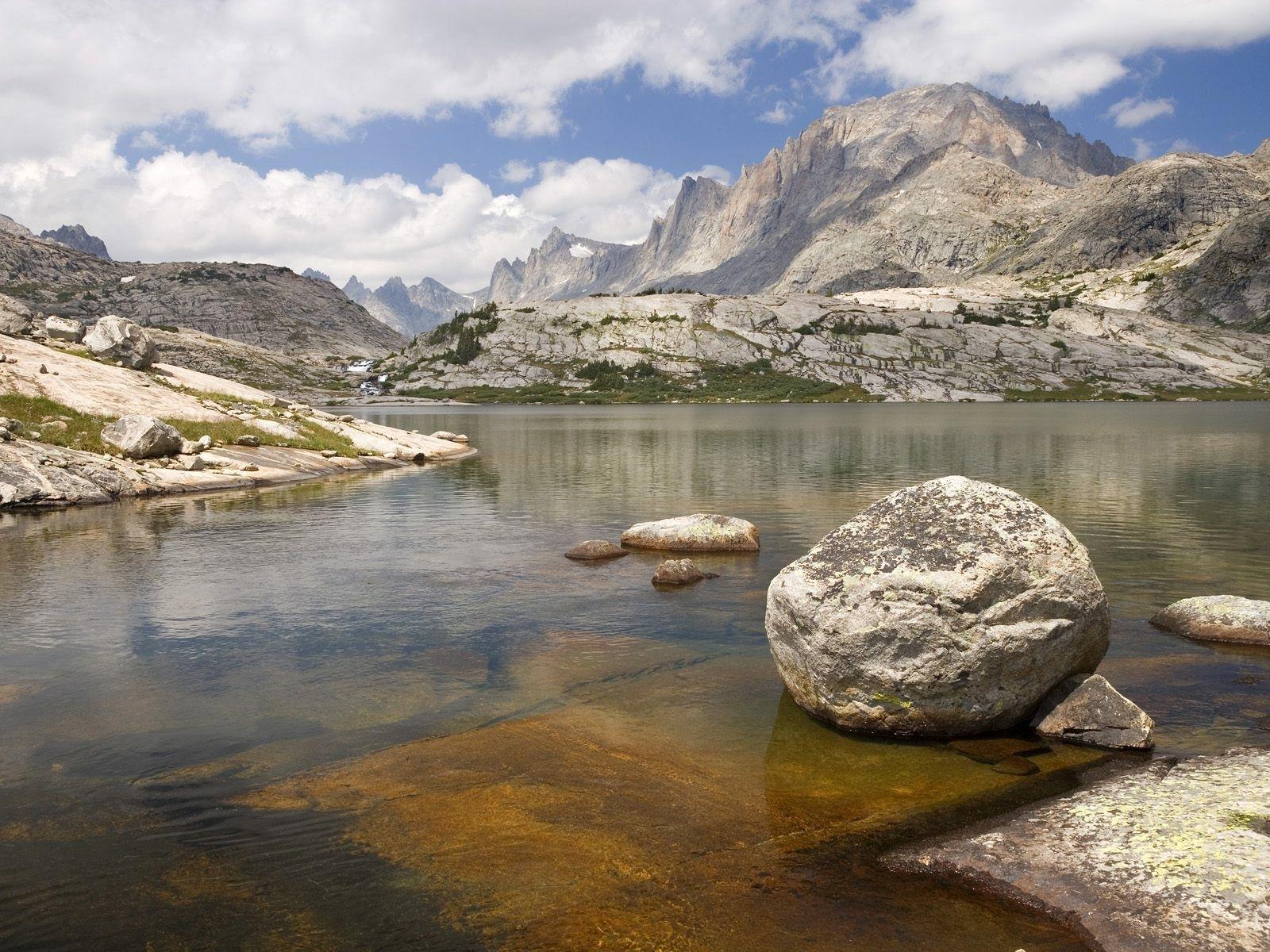 2660 скачать обои Пейзаж, Вода, Река, Камни, Горы - заставки и картинки бесплатно