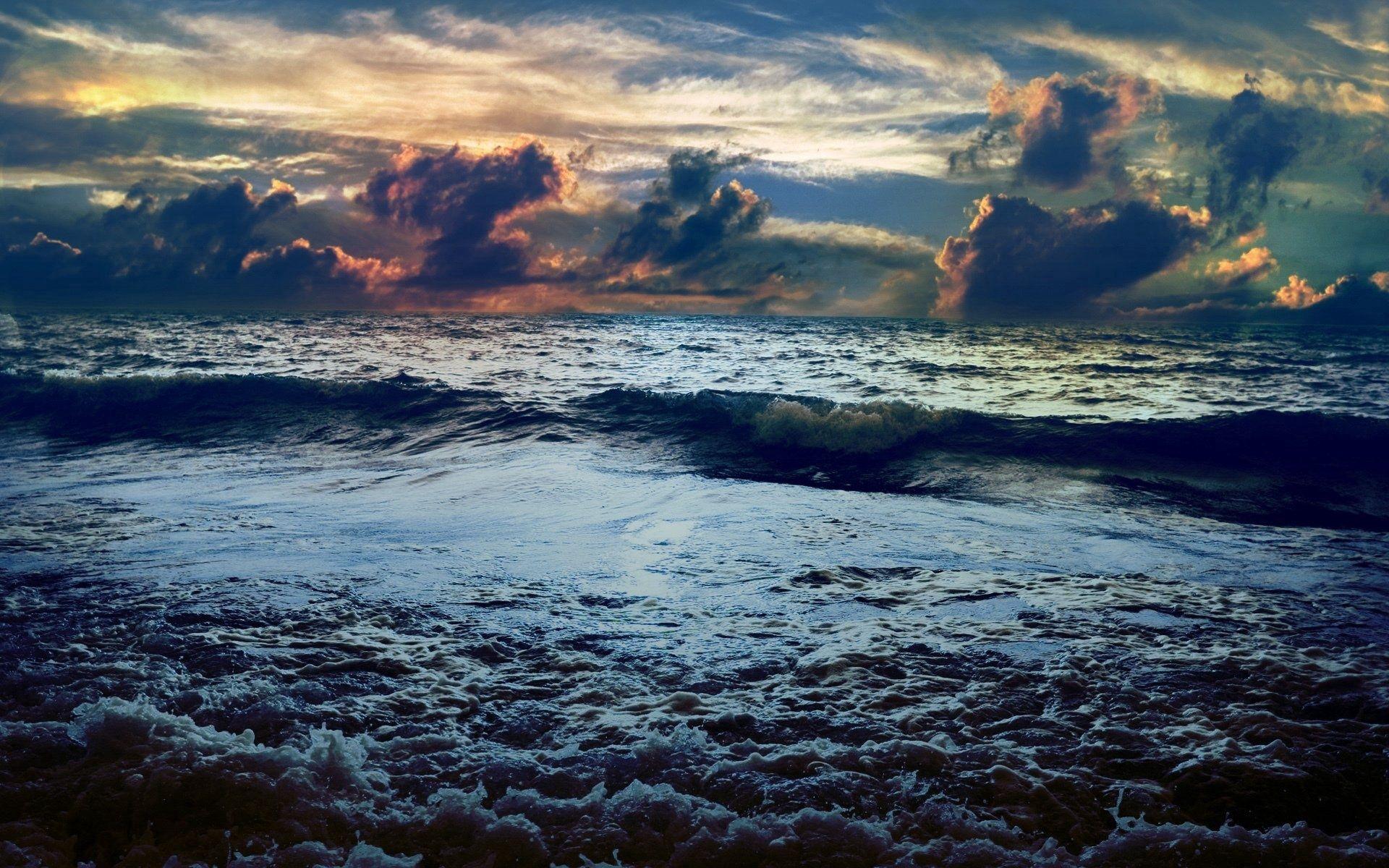 135581 скачать обои Природа, Небо, Море, Горизонт, Цвета, Краски, Шторм, Непогода, Бушующее - заставки и картинки бесплатно