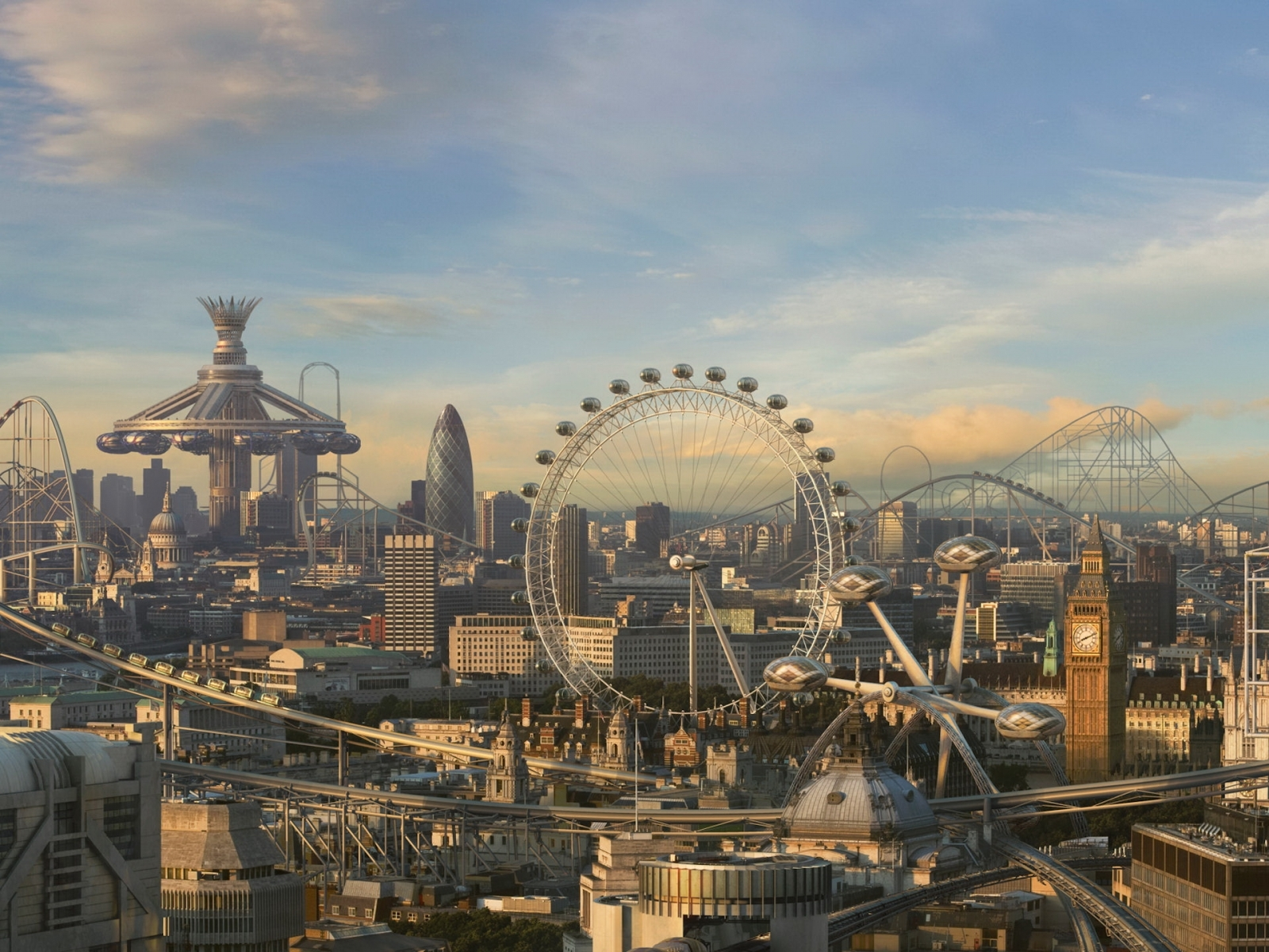 1244 download wallpaper Landscape, Cities, Art, Attractions screensavers and pictures for free