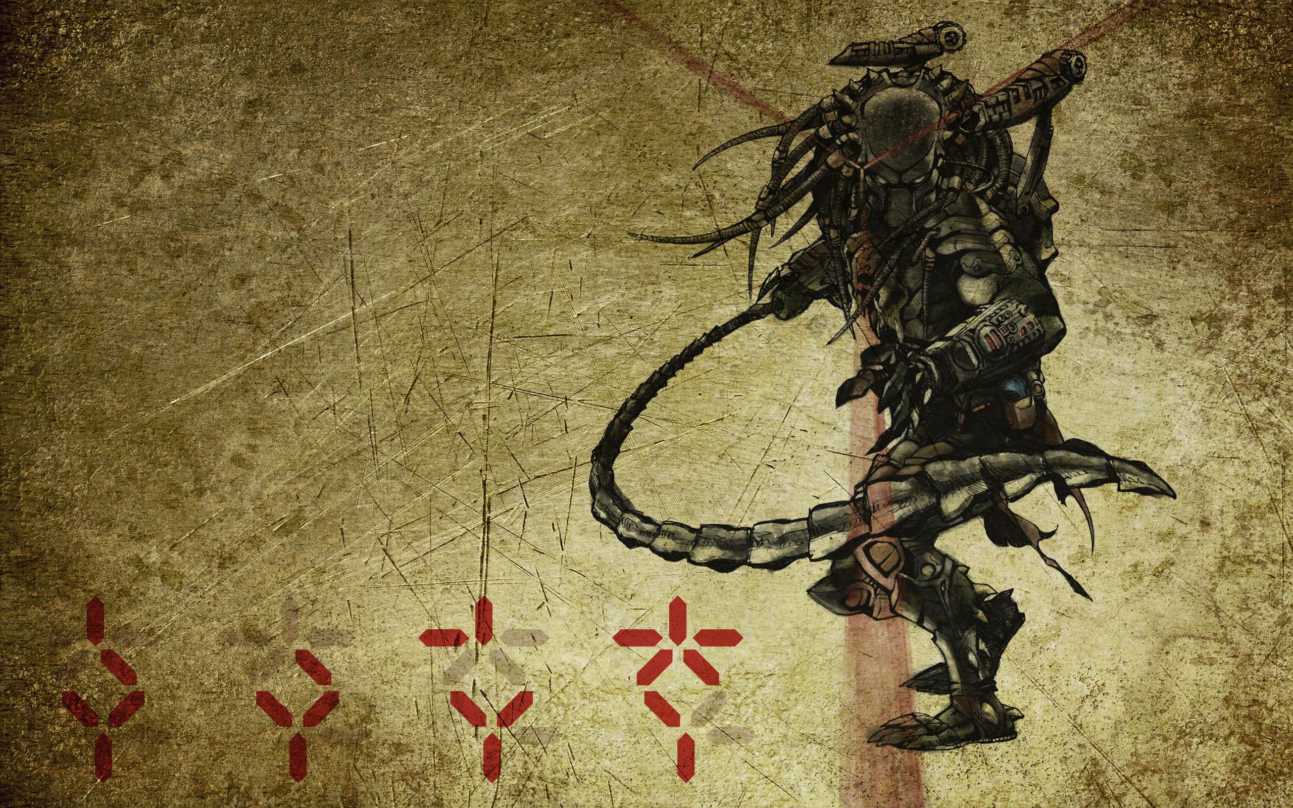 17808 скачать обои Игры, Рисунки, Чужой Против Хищника (Avp: Alien Vs. Predator) - заставки и картинки бесплатно