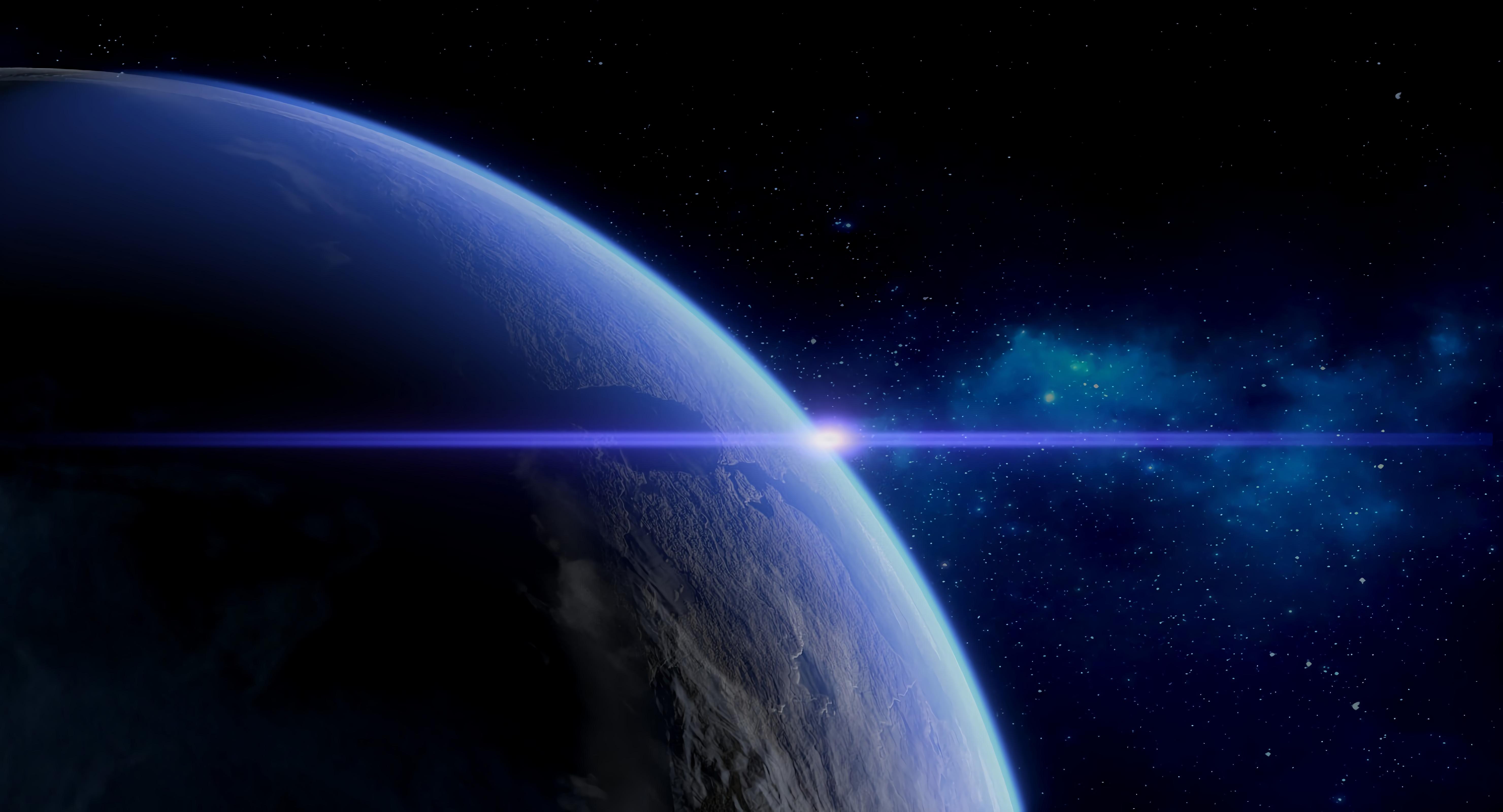 52486 скачать обои Планета, Вспышка, Атмосфера, Космос, Вселенная - заставки и картинки бесплатно