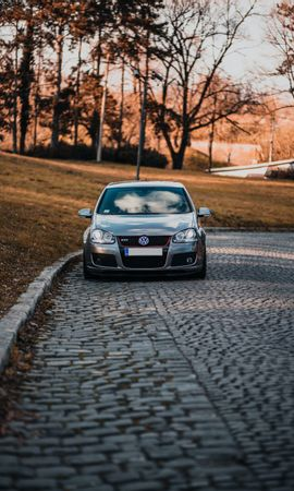 109301 Screensavers and Wallpapers Volkswagen for phone. Download Cars, Volkswagen, Car, Silver, Silvery, Road pictures for free