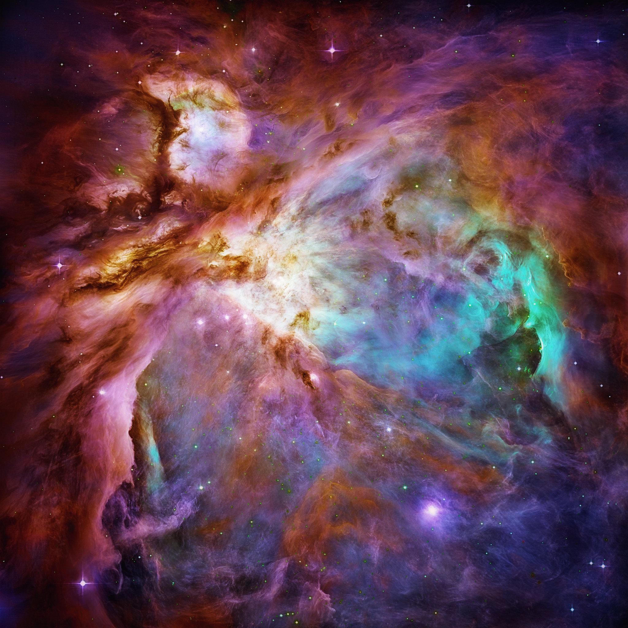 92676 скачать обои Космос, Звезды, Разноцветный, Туманность - заставки и картинки бесплатно
