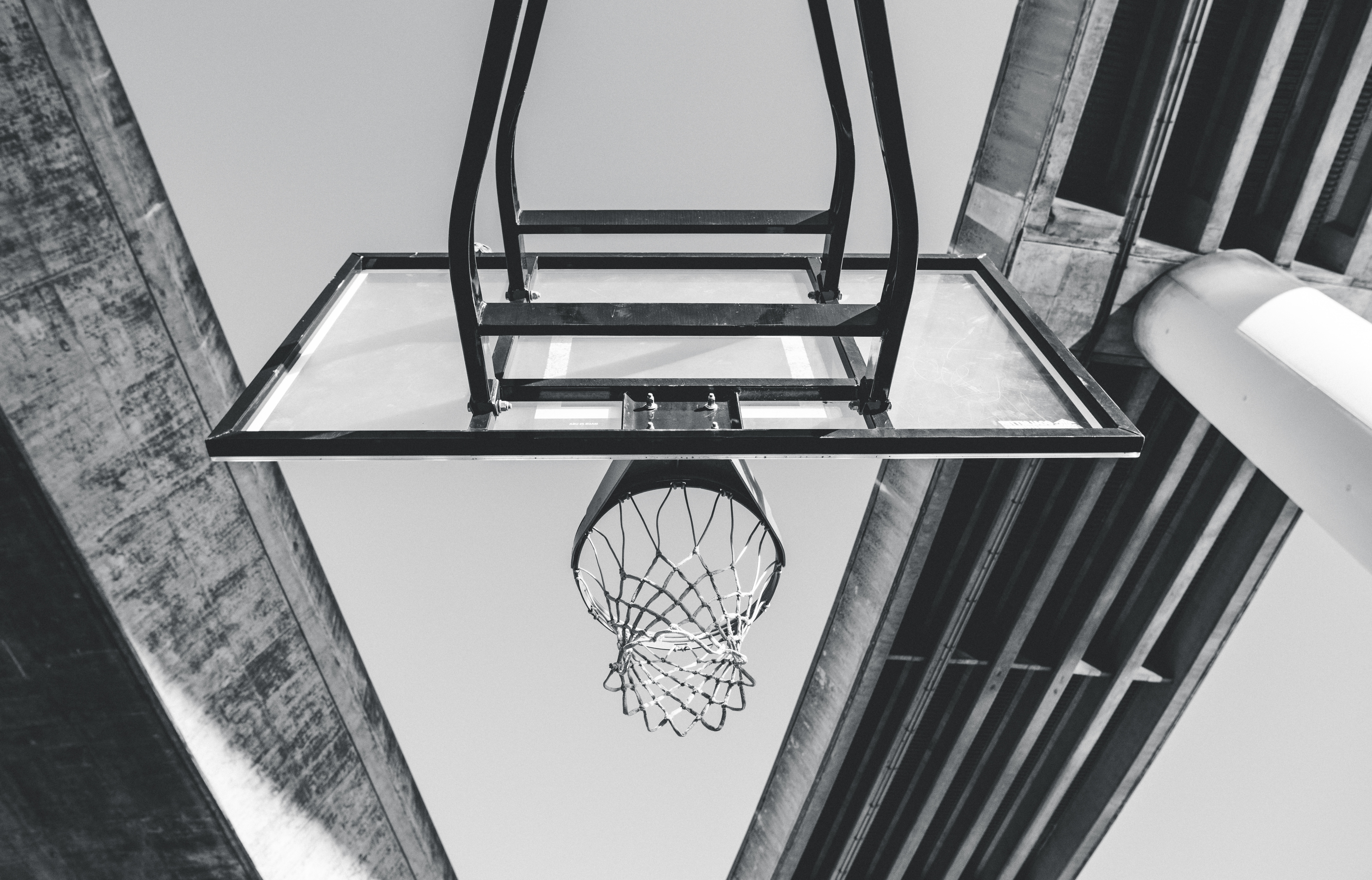 78509 Screensavers and Wallpapers Basketball for phone. Download Sports, Basketball, Ring, Grid, Bw, Chb pictures for free