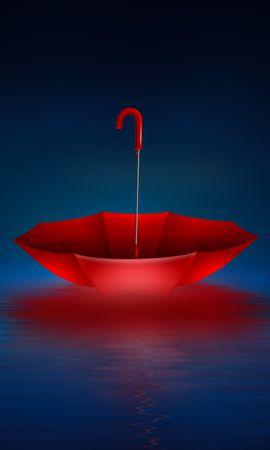 109767 baixe gratuitamente papéis de parede de Vermelho para seu telefone, Miscelânea, Variado, Guarda-Chuva, Mar, Arte imagens e protetores de tela de Vermelho para seu celular