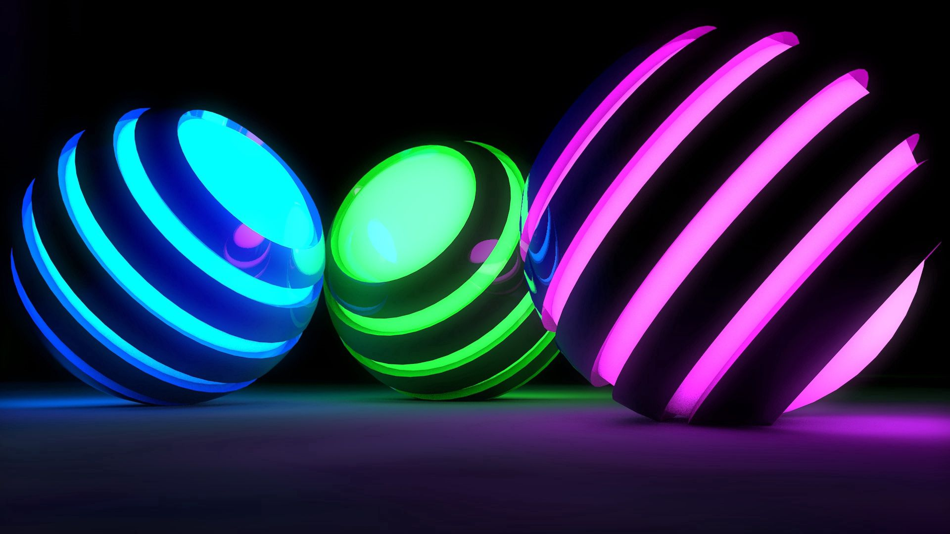 82148 Screensavers and Wallpapers Balls for phone. Download 3D, Balls, Bright, Stripes, Streaks, Glow pictures for free