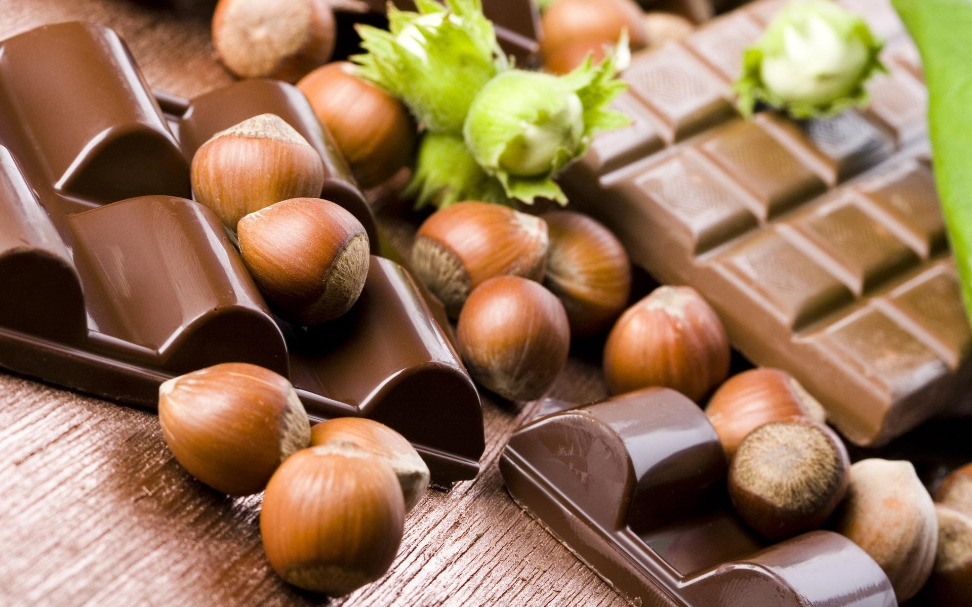 24566 скачать обои Еда, Шоколад, Орехи (Nuts) - заставки и картинки бесплатно