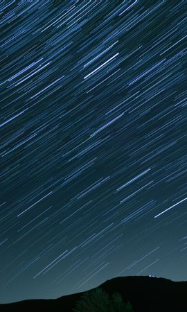 157452 скачать обои Природа, Холм, Звездное Небо, Искажение, Ночь, Звезды - заставки и картинки бесплатно