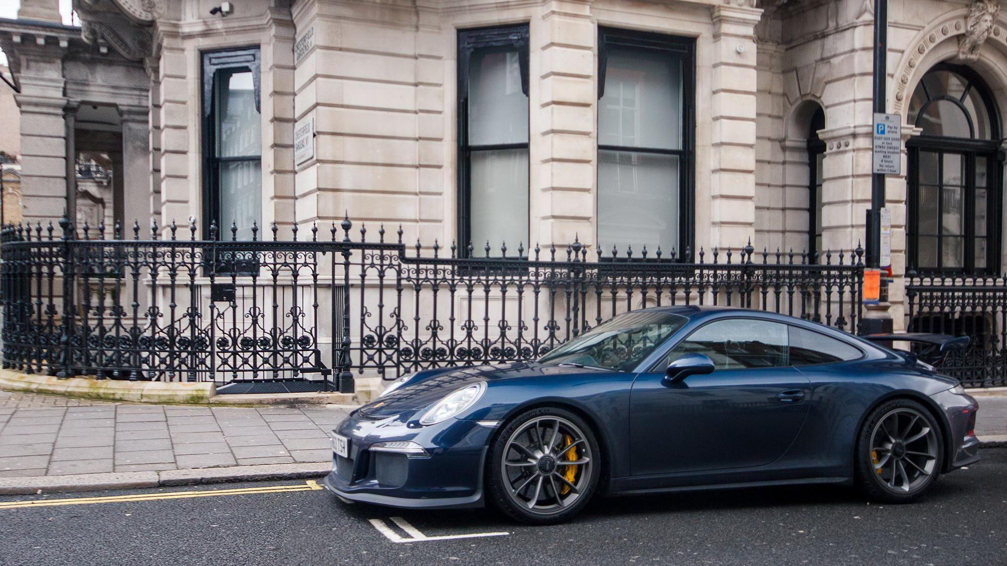 79726 Hintergrundbild herunterladen Porsche, London, Cars, Supersportwagen, Gt3, 991 - Bildschirmschoner und Bilder kostenlos