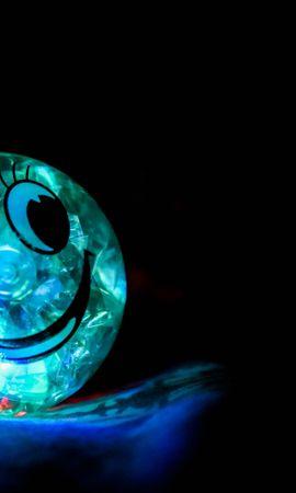 76220壁紙のダウンロード闇, 暗い, スマイル, 微笑む, 幸福, 玉, 球, バックライト, 照明-スクリーンセーバーと写真を無料で