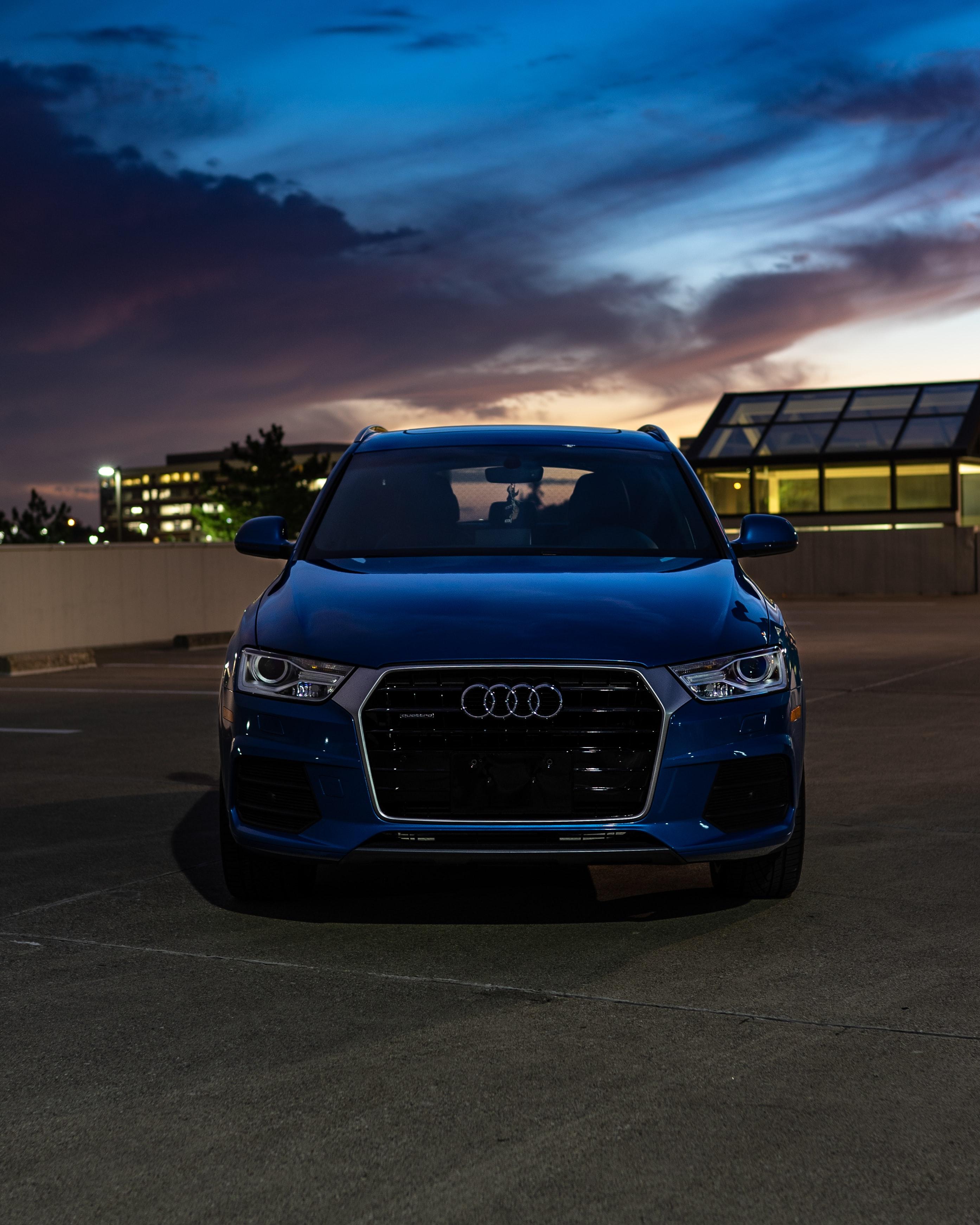 107949 Заставки и Обои Вид Спереди на телефон. Скачать Ауди (Audi), Тачки (Cars), Автомобиль, Синий, Вид Спереди картинки бесплатно