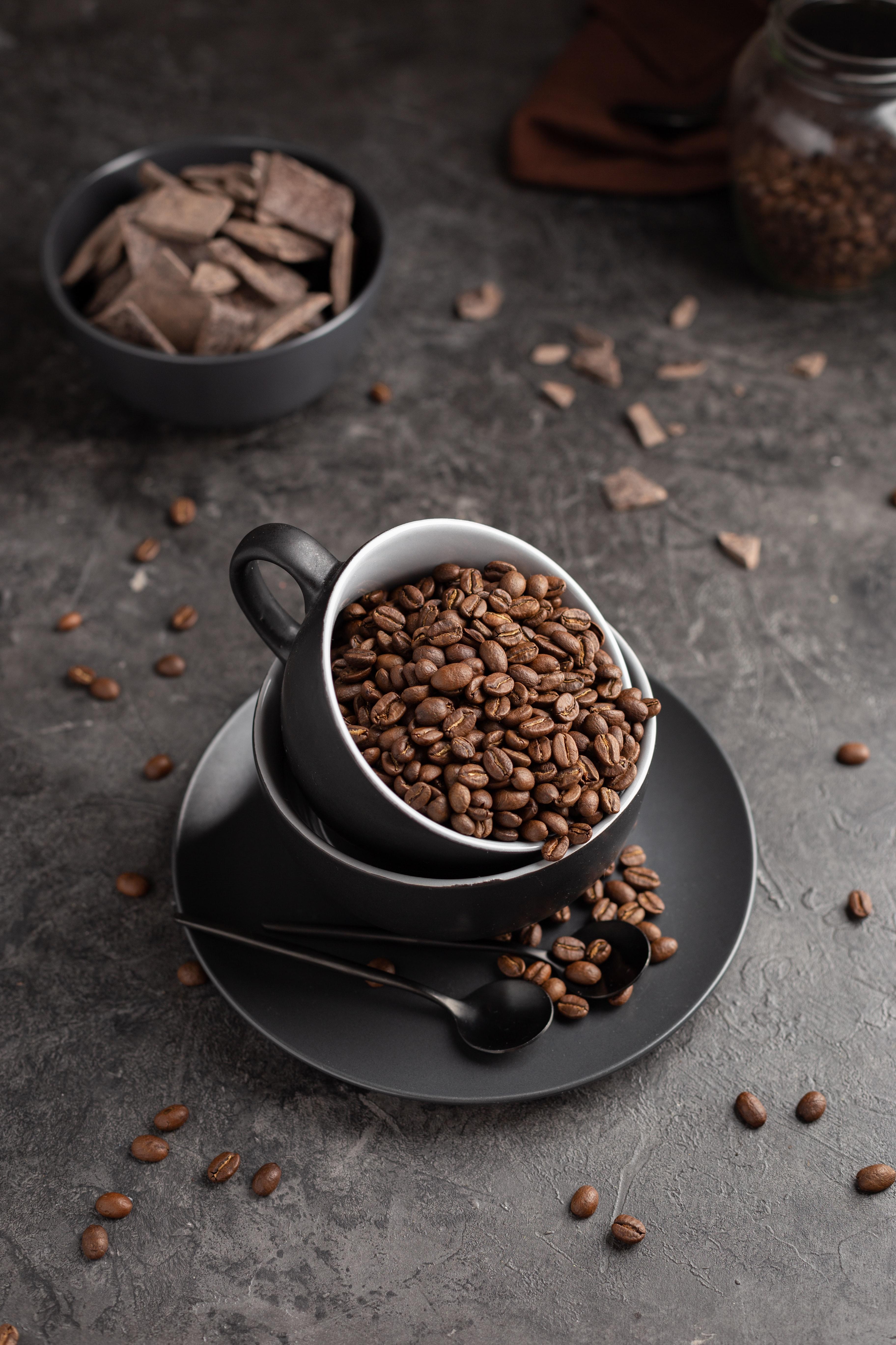128830 скачать обои Кофе, Еда, Шоколад, Чашка, Кофейные Зерна - заставки и картинки бесплатно