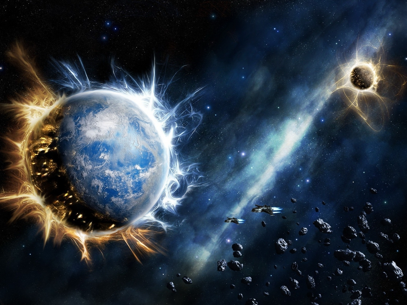 48192 download wallpaper Fantasy, Planets, Universe screensavers and pictures for free
